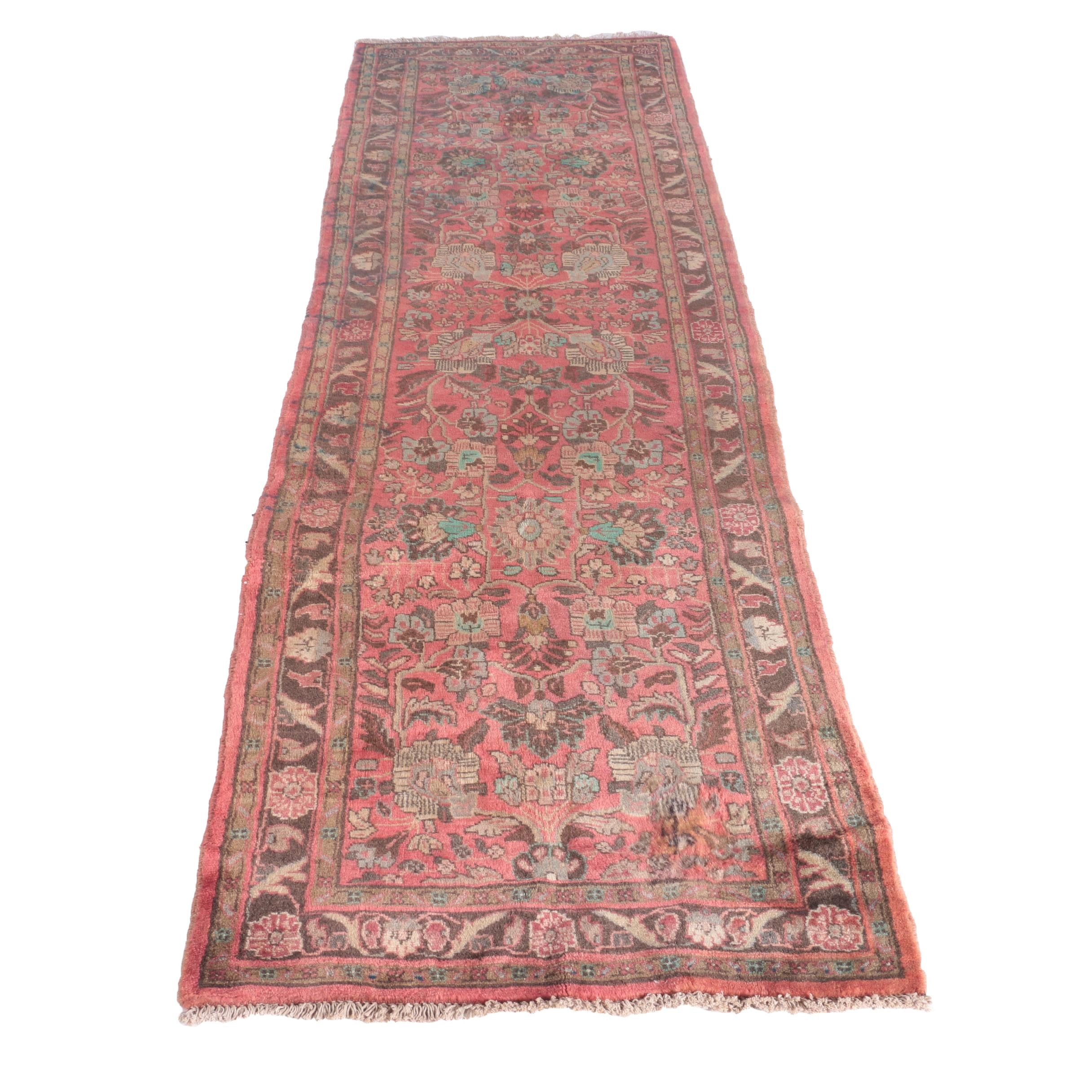 Hand-Knotted Perisan Mehriban Carpet Runner
