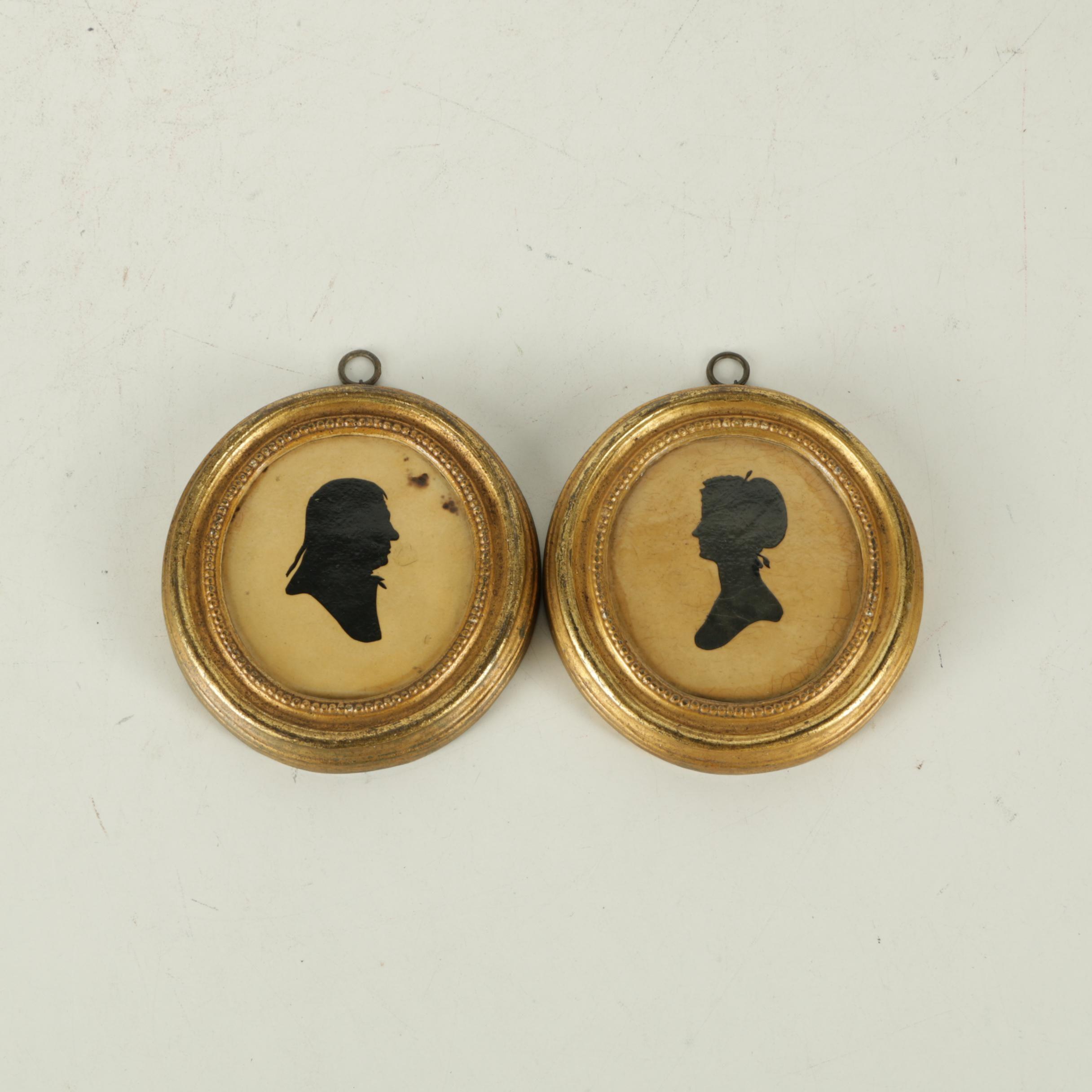 Silhouette Portraits on Ceramic