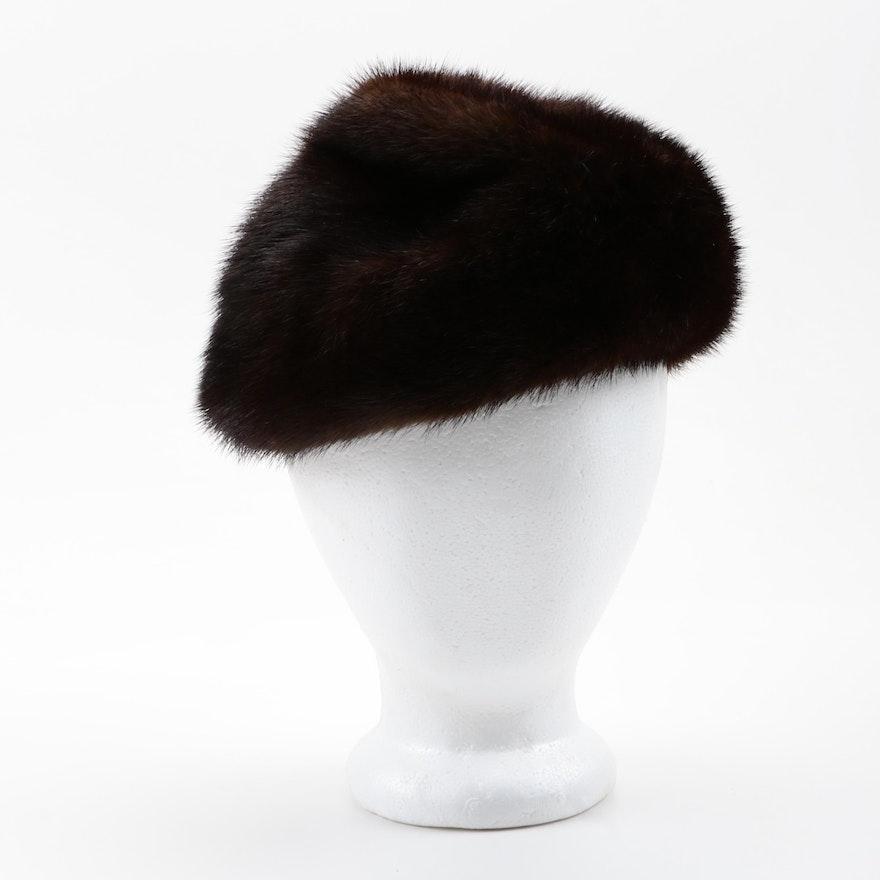 Vintage Mink Fur Hat   EBTH 3f53ad36526
