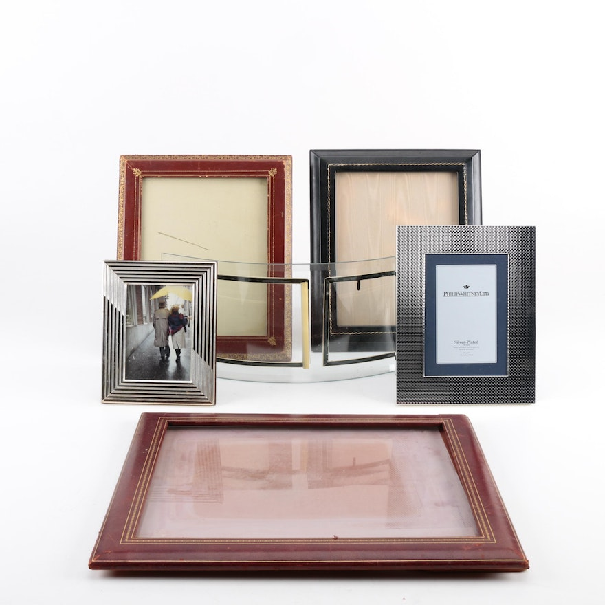 c83aa0f2d265 Assortment of Metal and Silver Plate Picture Frames   EBTH