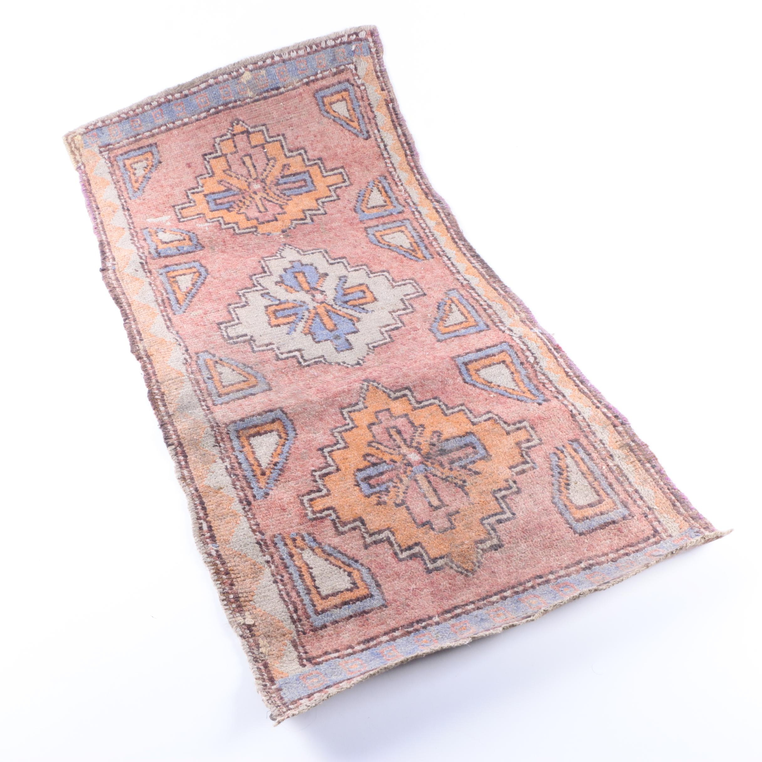 Hand-Knotted Tribal Style Wool Area Rug