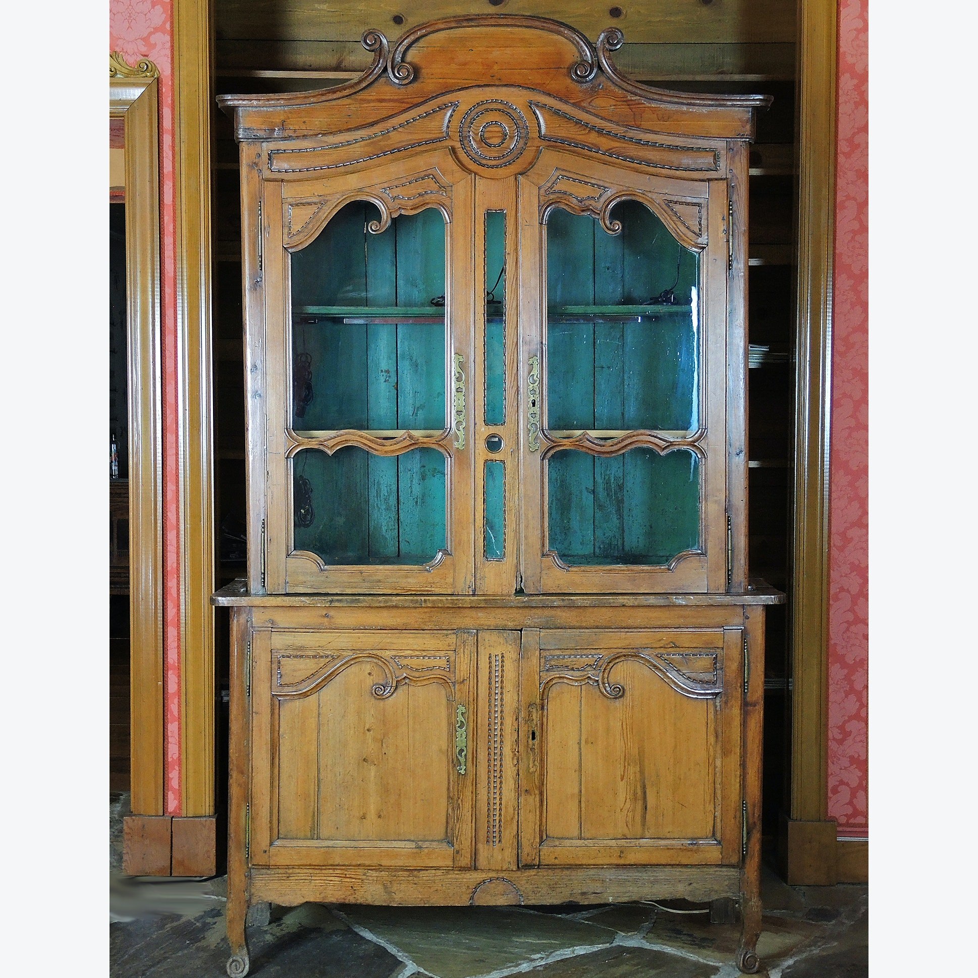Antique French Country China Cabinet