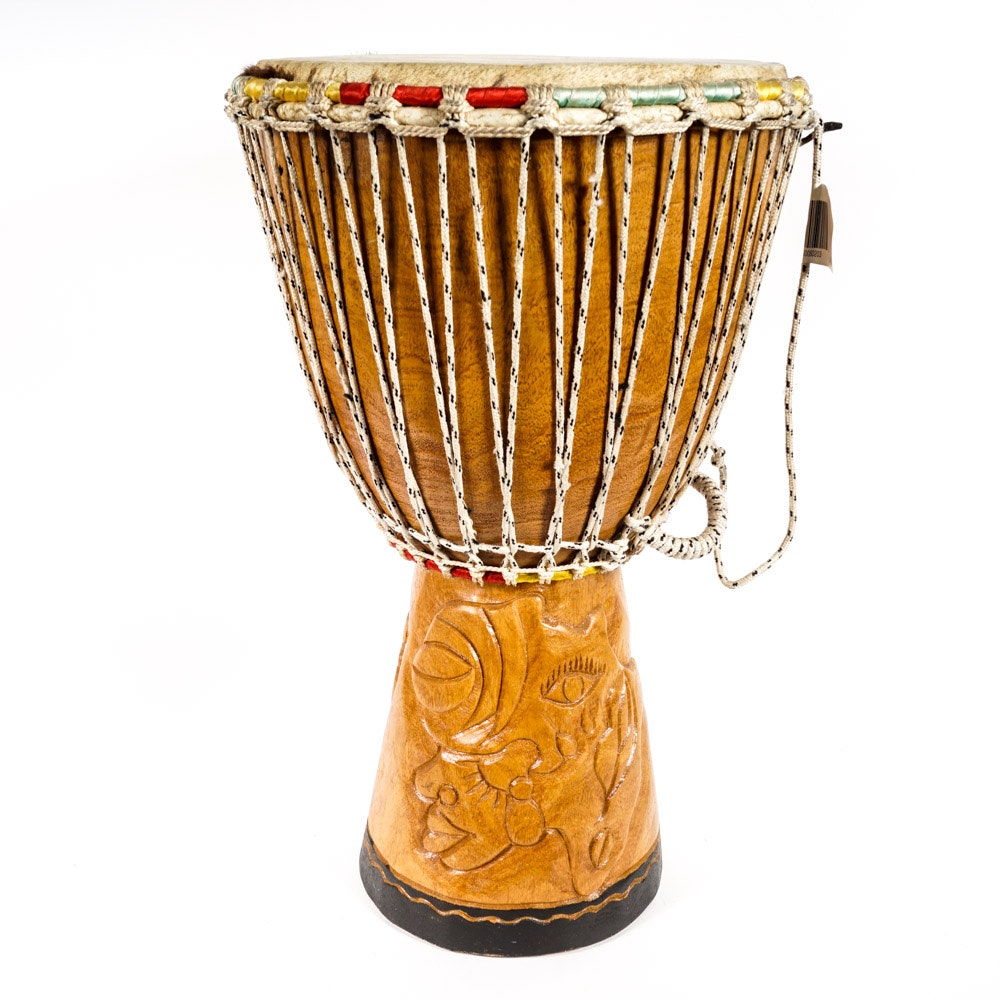 Carved Wooden Drum