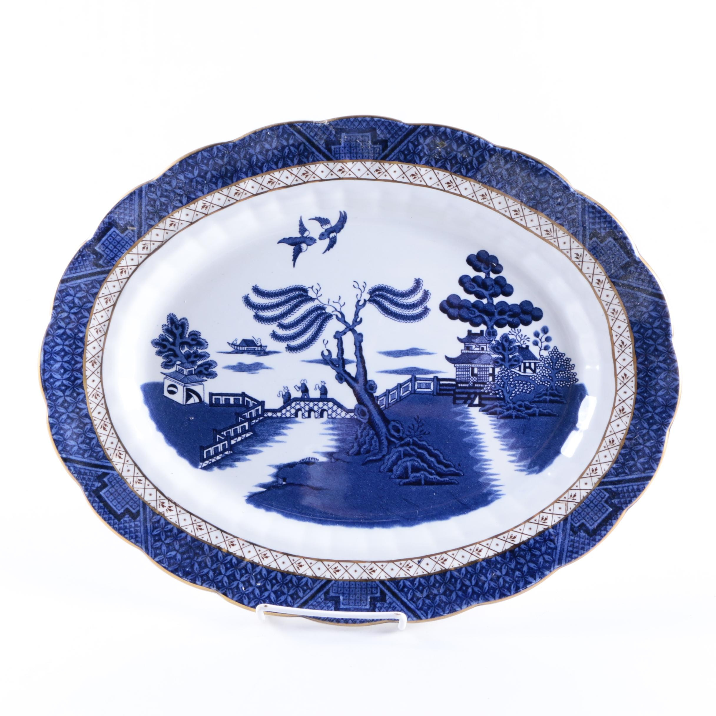 """Vintage Booths """"Real Old Willow"""" Earthenware Platter"""