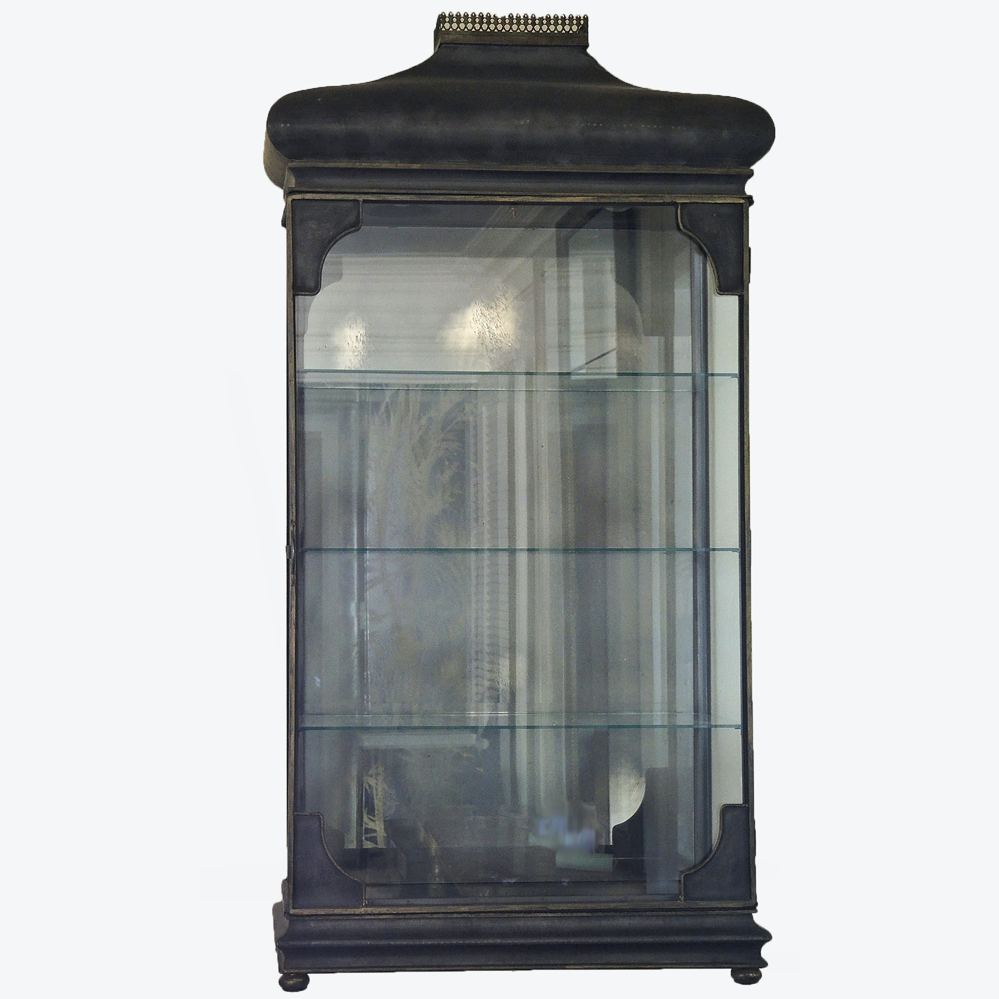 Lighted Wall Mount Glass Display Cabinet