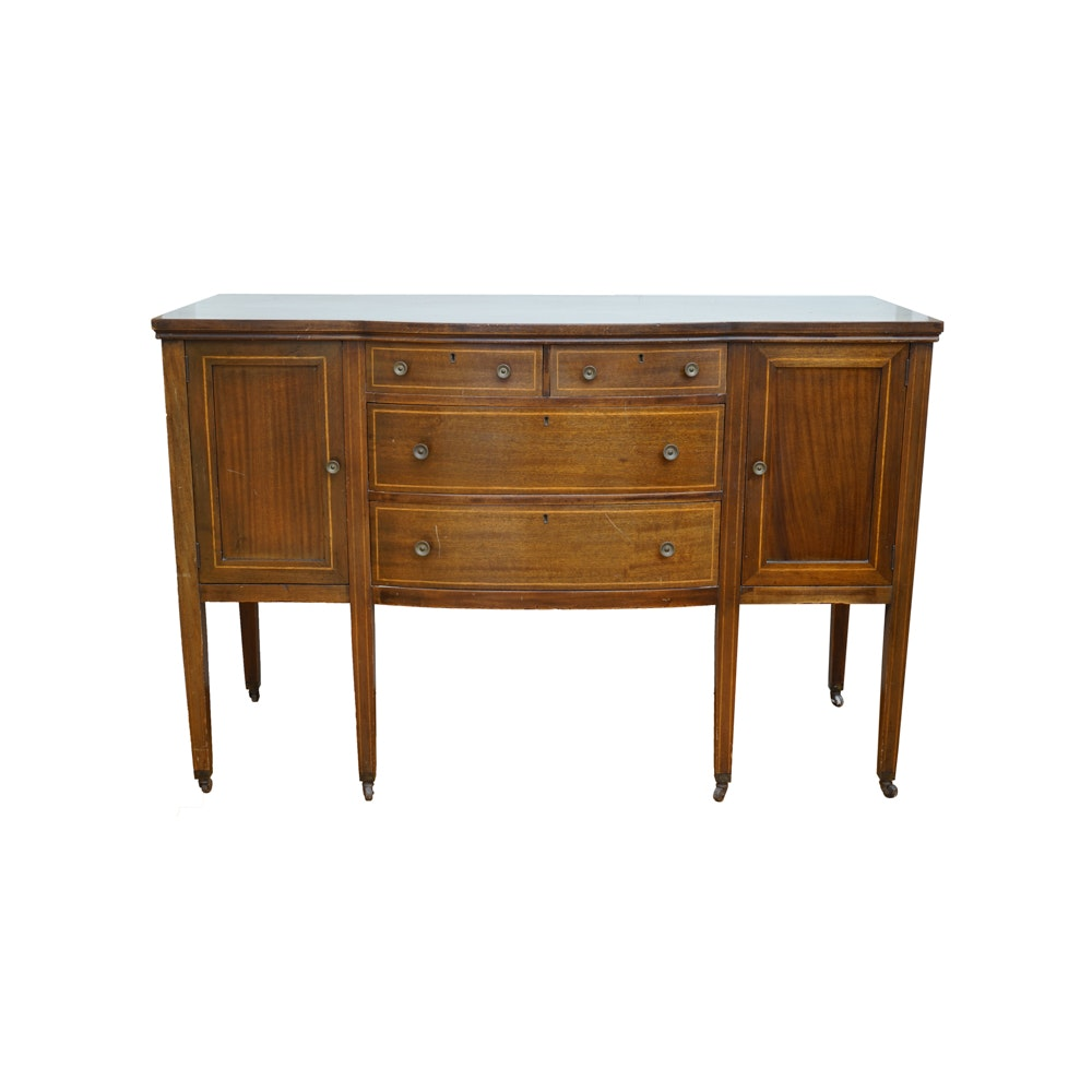 Early 20th Century Hepplewhite Style Mahogany Sideboard