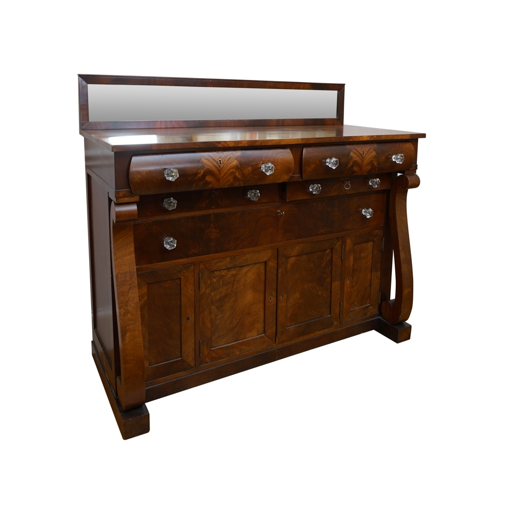 Antique American Empire Style Mahogany Sideboard