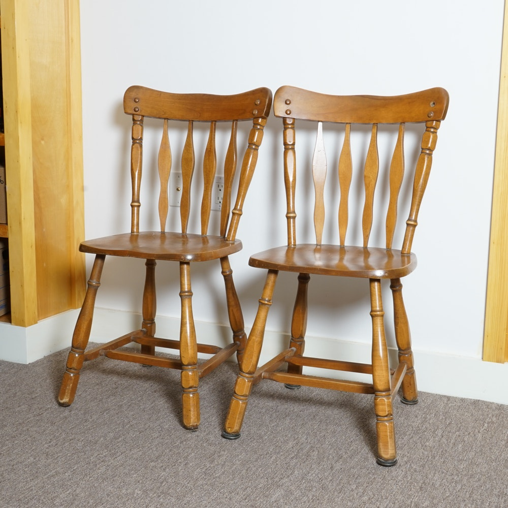 Pair Of Vintage Side Chairs By Dinah Cook ...