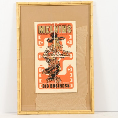Guy Burwell Limited Edition Serigraph Poster for Melvins and Big Business