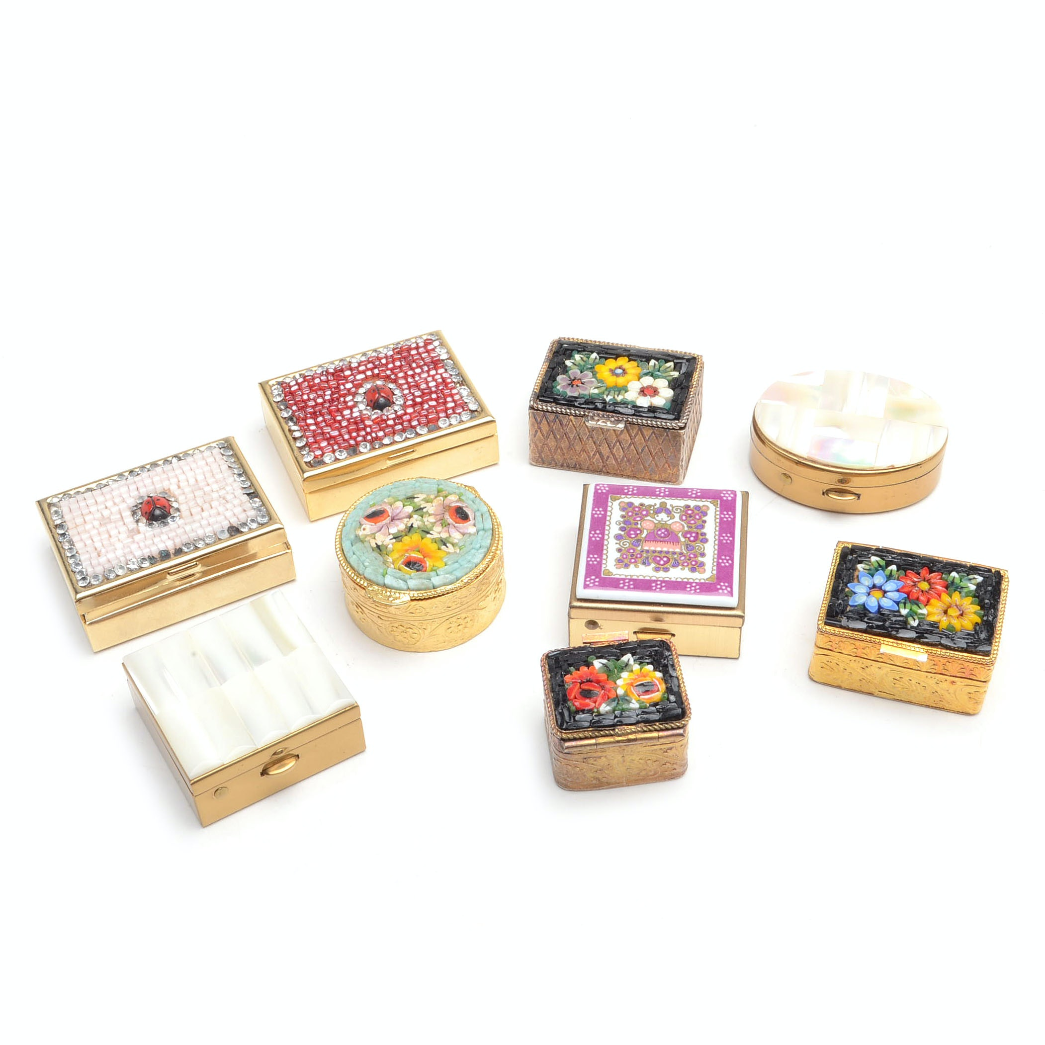 Trinket Box Collection Including Micro Mosaics