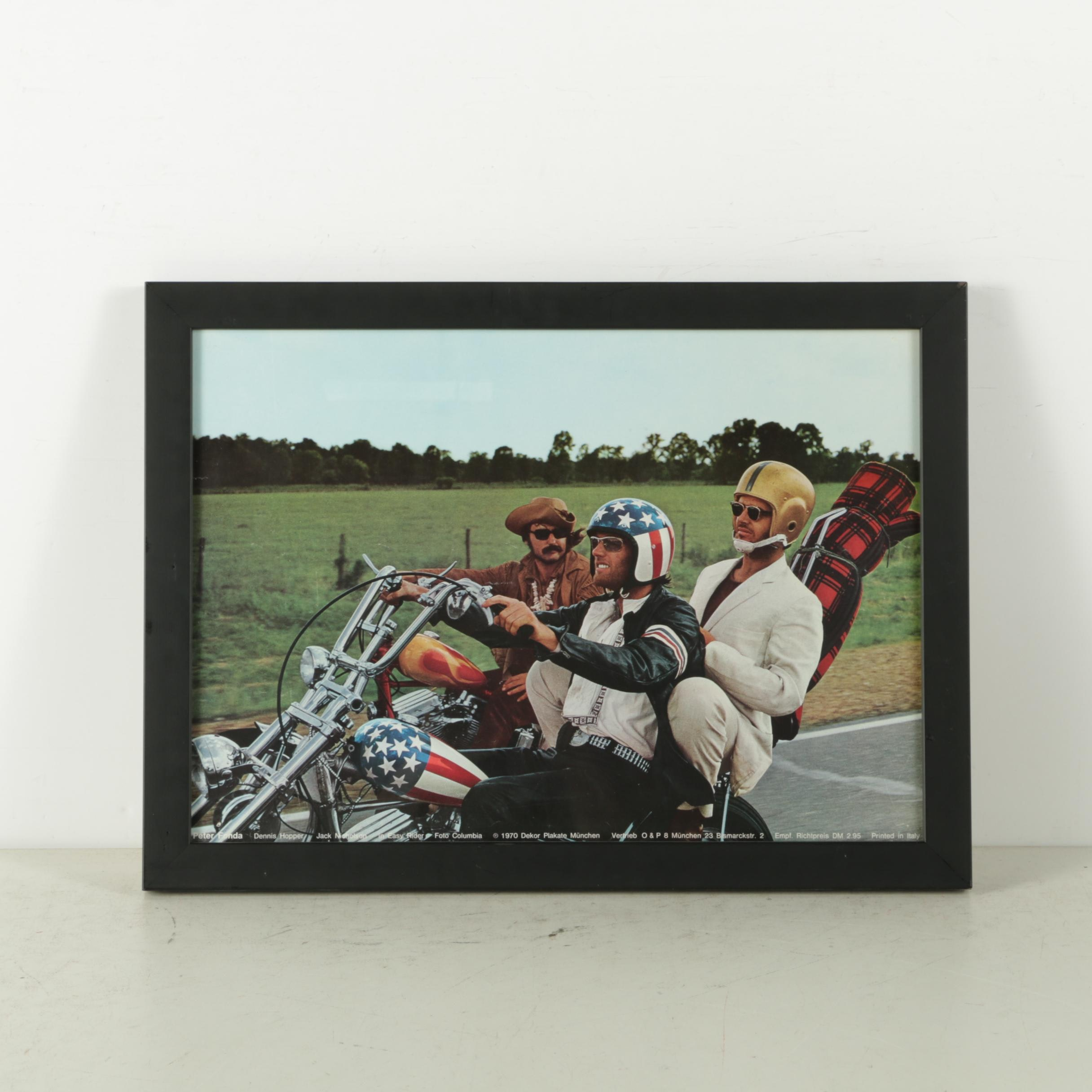 "Reproduction Print on Paper of Still From ""Easy Rider"""