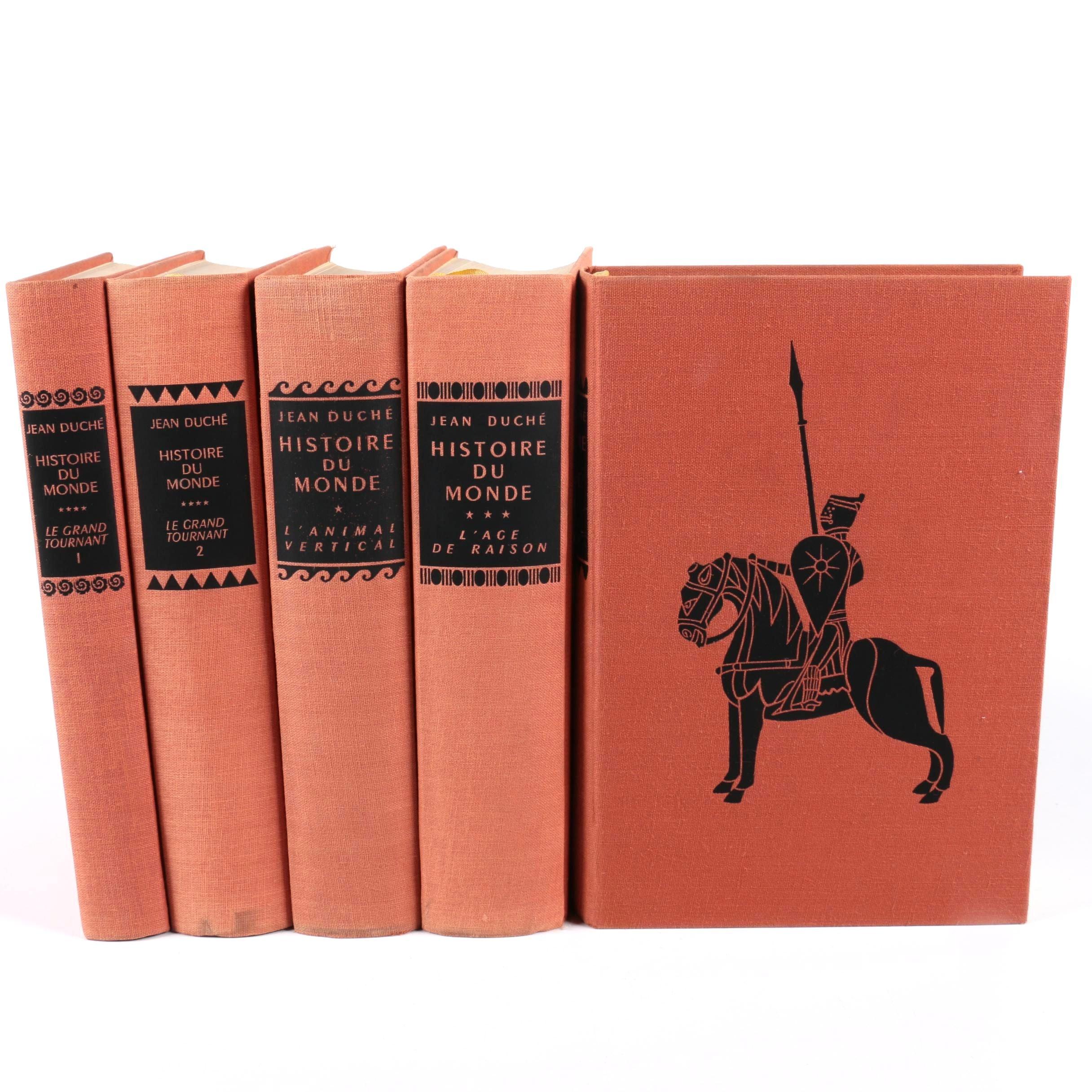 """Vintage Five-Volume """"Histoire du Monde"""" by Jean Duché"""