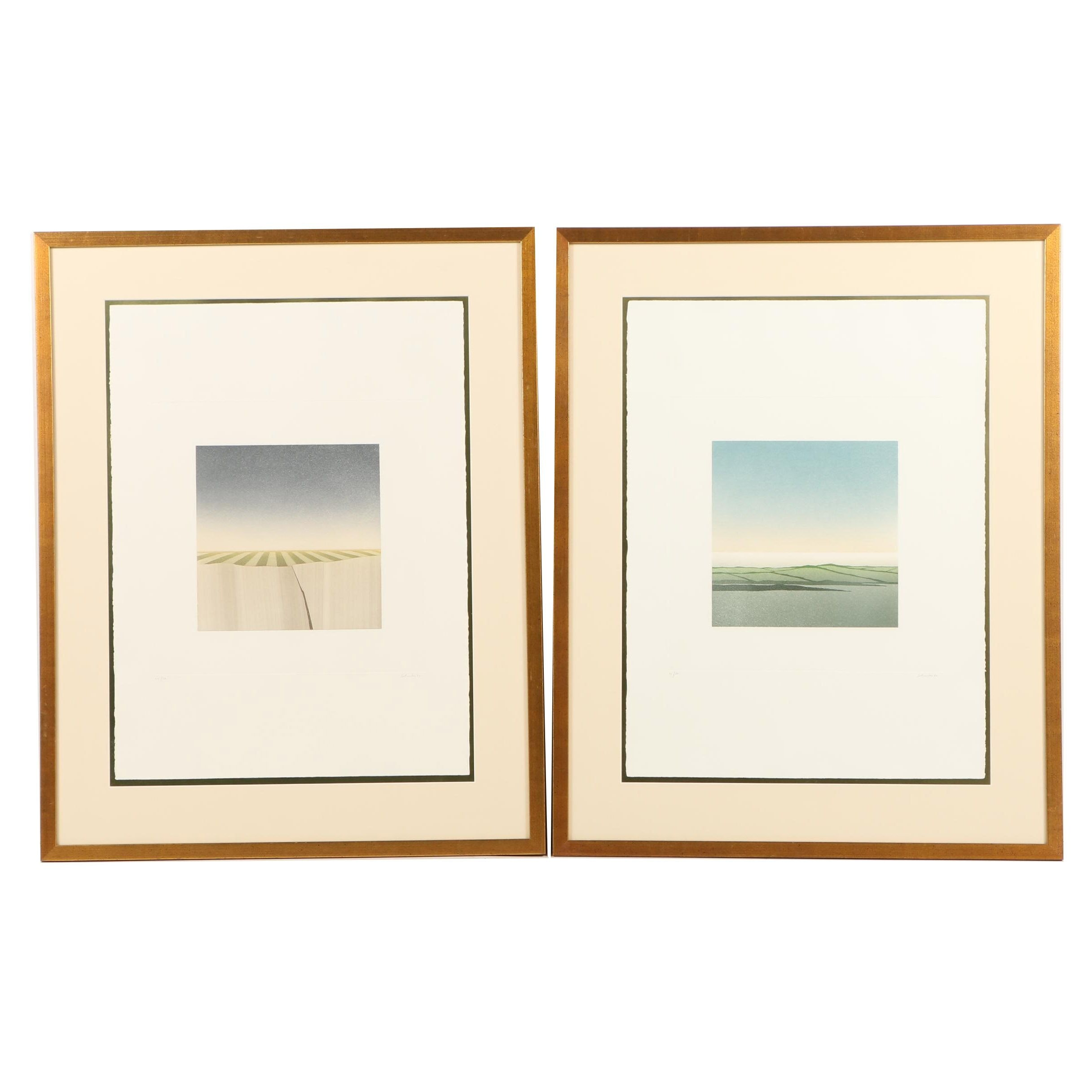 Jean Solombre Limited Edition Aquatint and Drypoint Etchings
