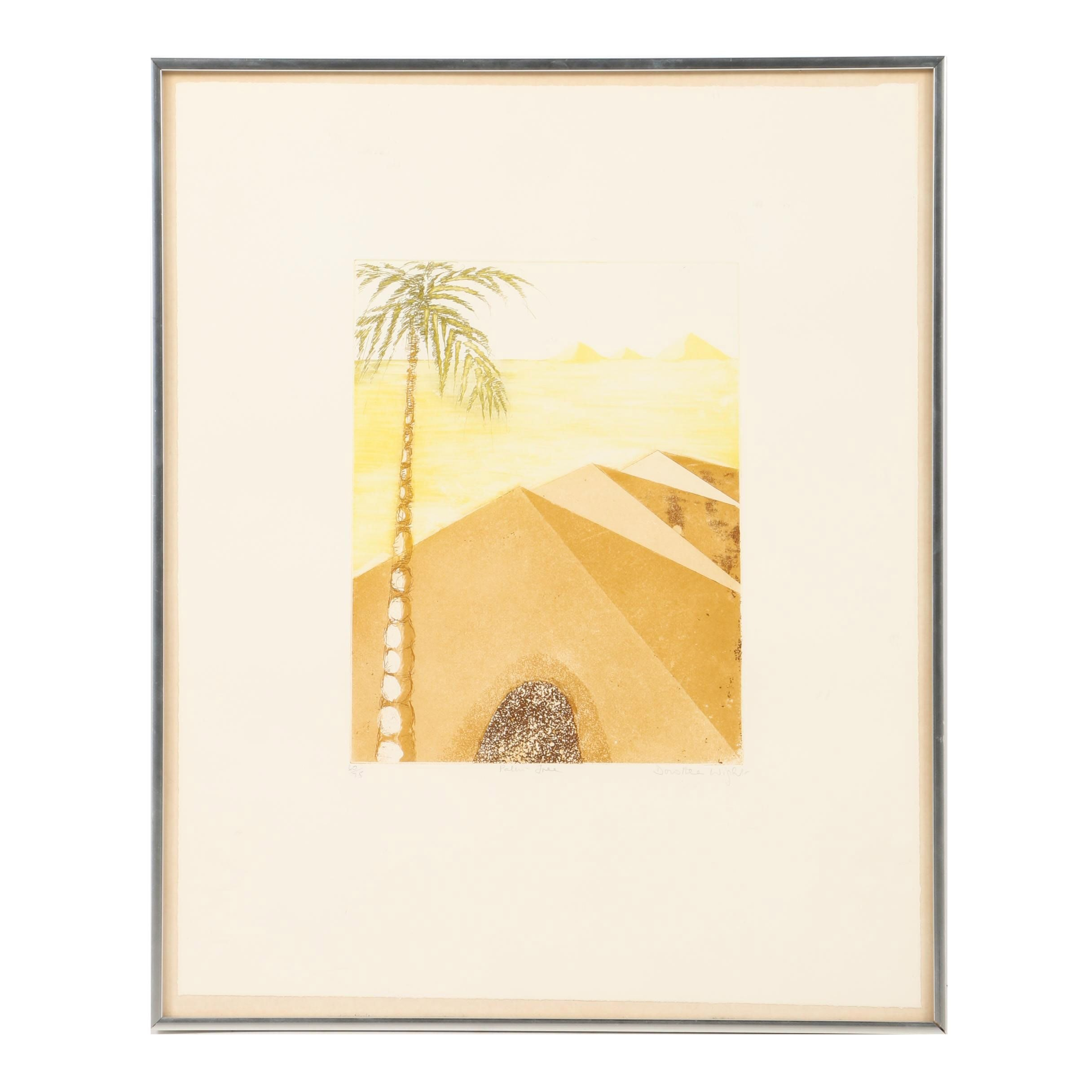 """Limited Edition Etching With Aquatint """"Palm Tree"""""""