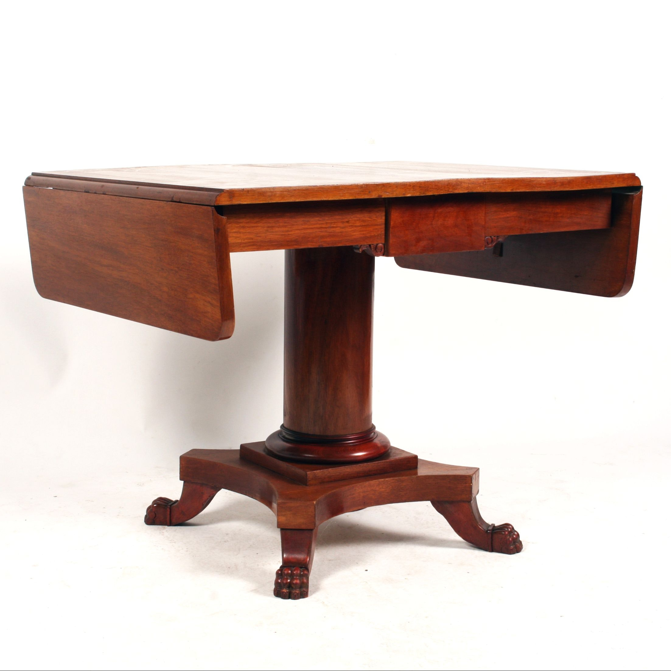 Baltic 19th-Century Empire Birch Sofa Table