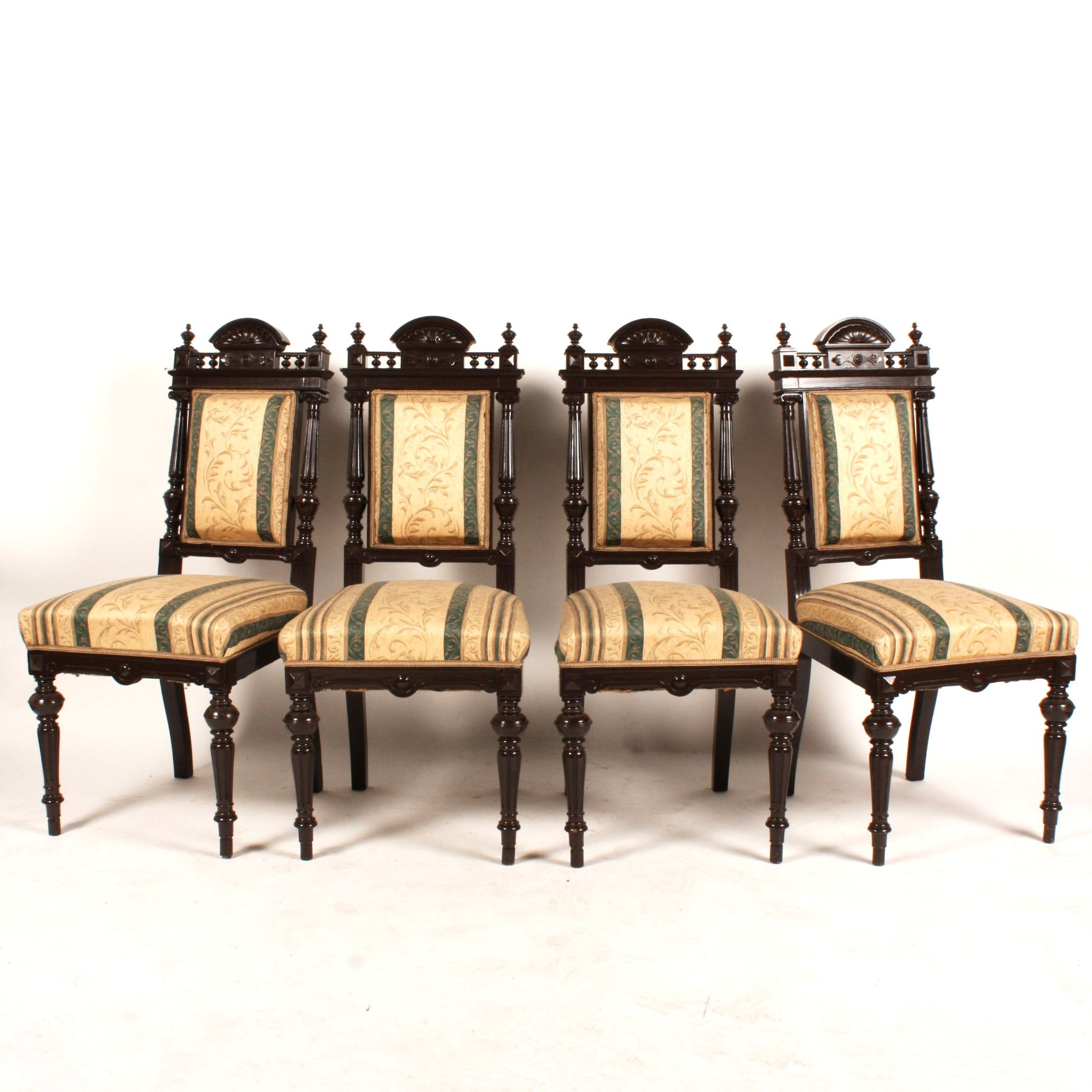 Four Antique European Baroque Style Chairs