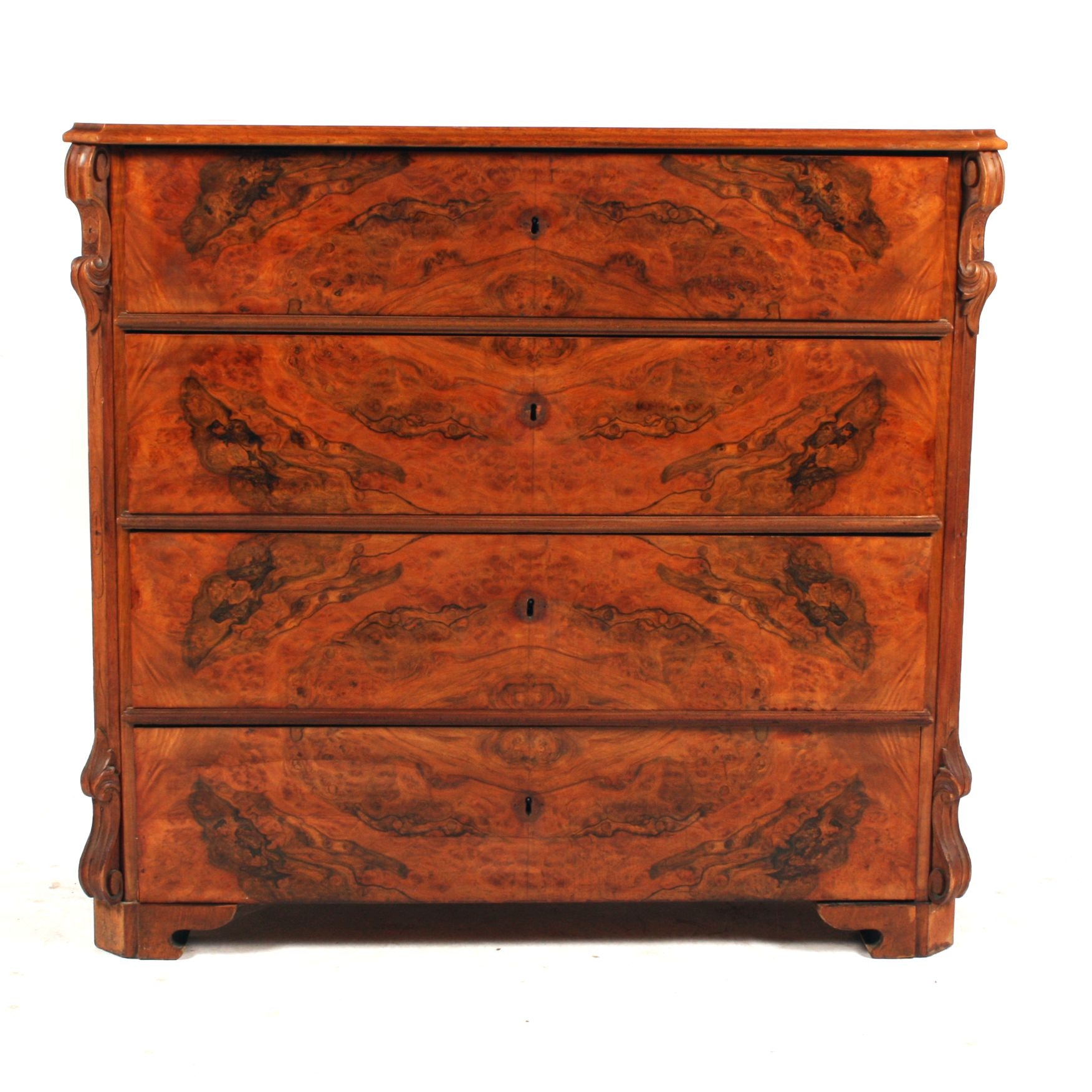 Antique Victorian Walnut Chest of Drawers