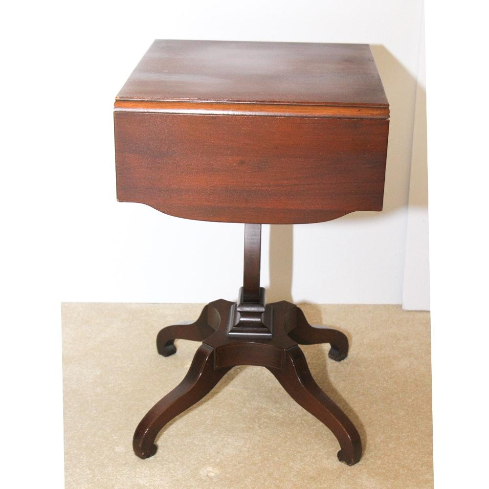 Antique Drop Leaf Lyre Table
