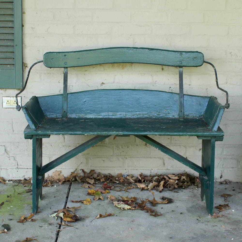 Painted Buggy Bench