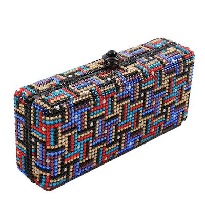 Anthony David's Colorful Swarovski Crystal Minaudière Evening Bag