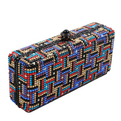 Anthony David's Colorful Swarovski Crystal Minaudière Evening Bag