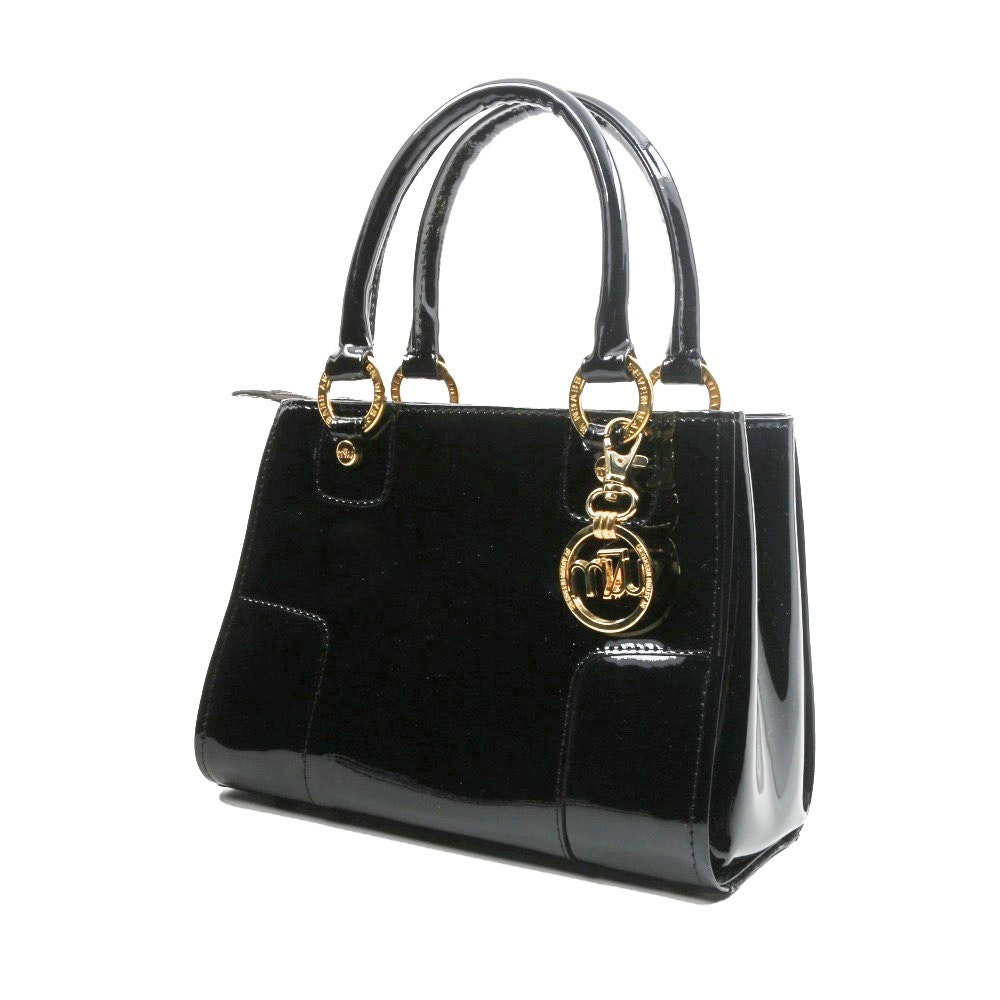 "The ""Astrid Bag"" by Astrid Beerkens in Varnished Black Leather"