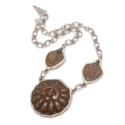 Barry Brinker One-Of-A-Kind Sterling and Bronze Necklace