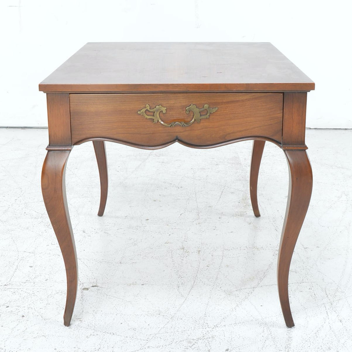 French Provincial Style Cherry End Table by Baker - Milling Road