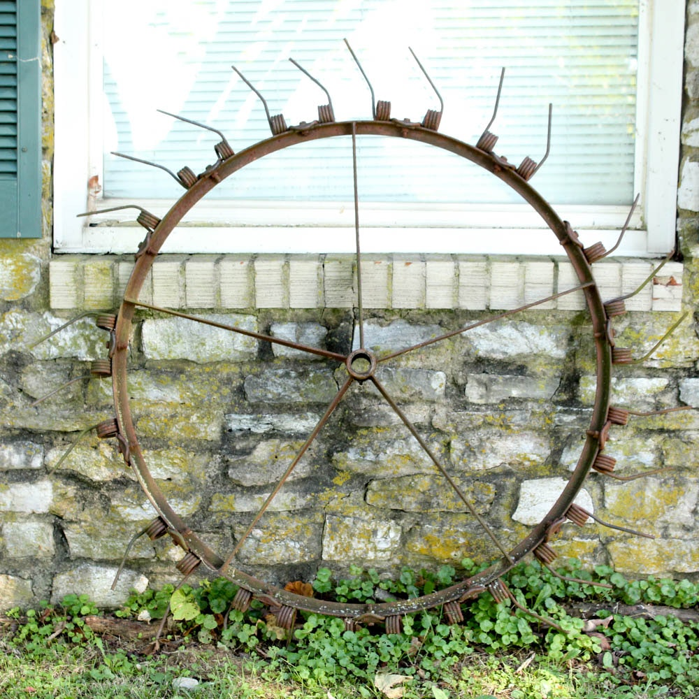 Antique Iron Thresher Wheel