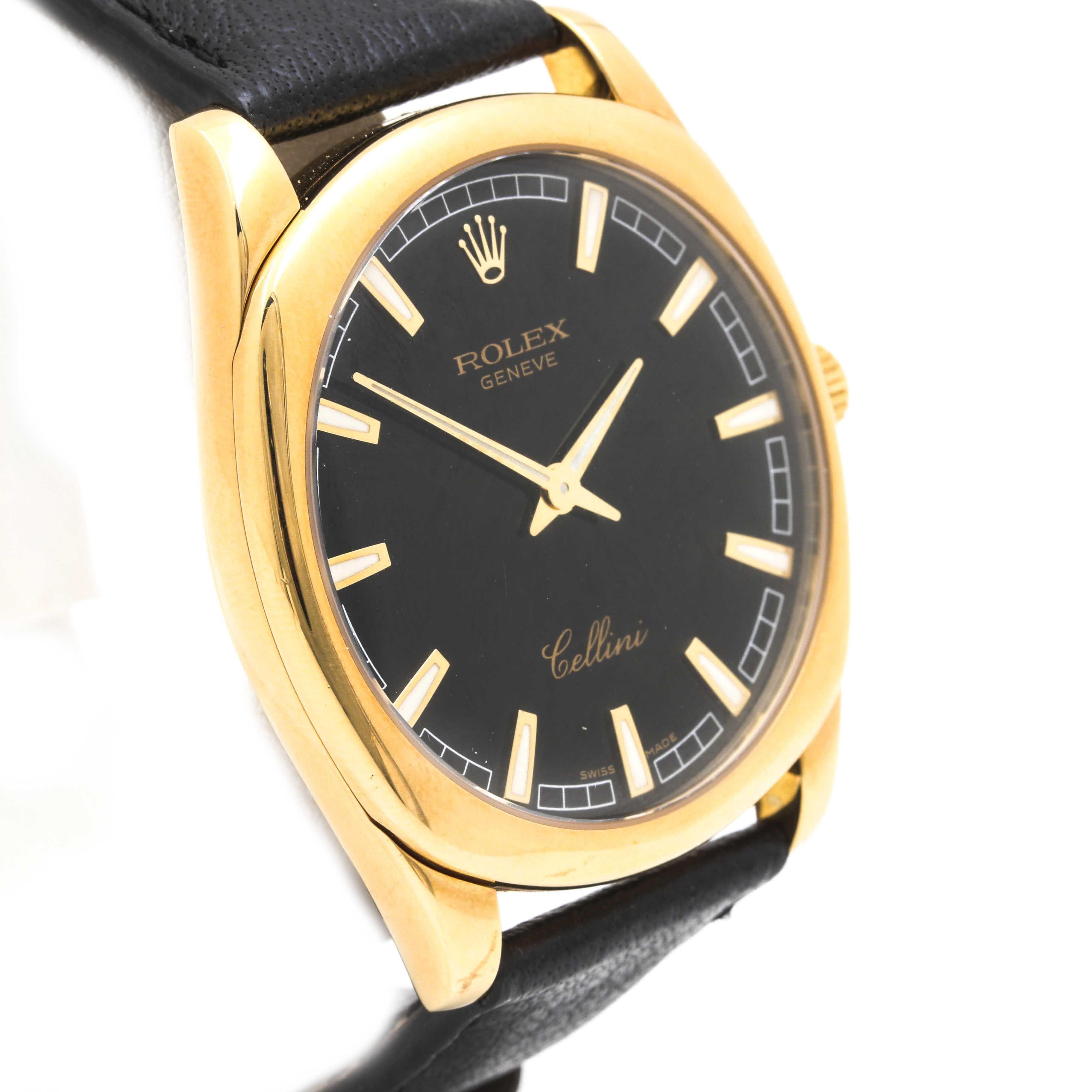 """Rolex """"Cellini Danaos"""" 18K Yellow Gold Wristwatch"""