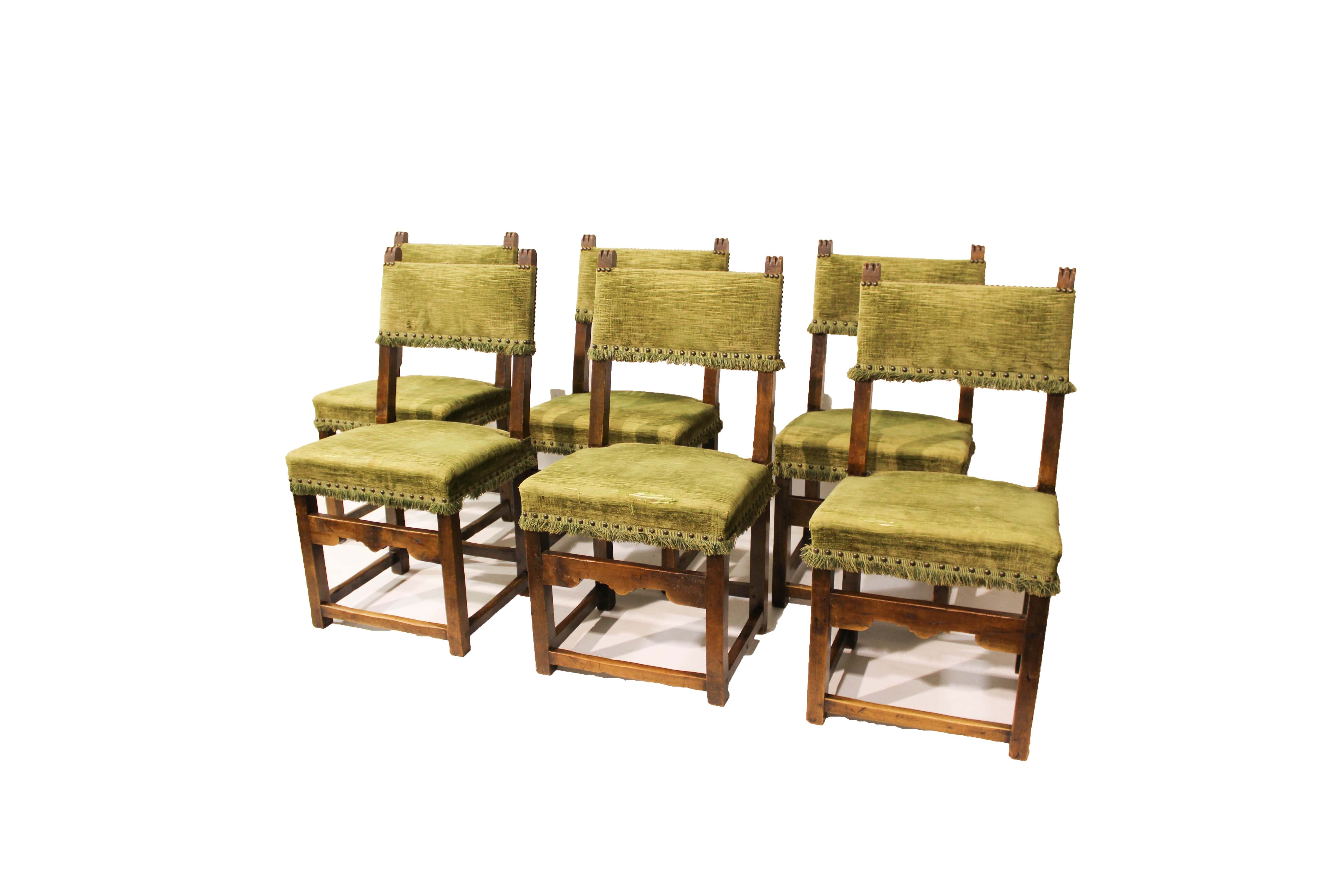 Six French Renaissance Revival Dining Chairs