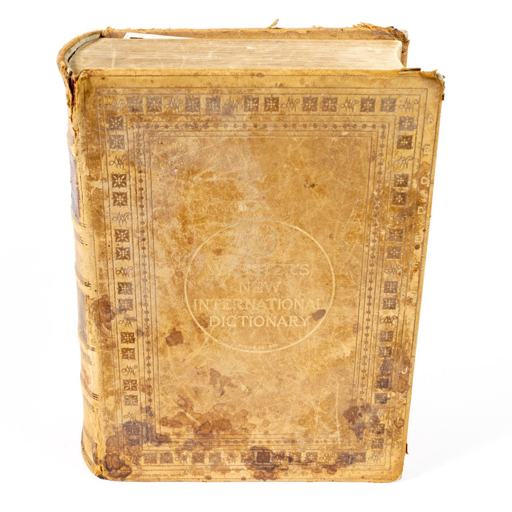 """Antique copy of """"Websters New International Dictionary of the English Language"""""""