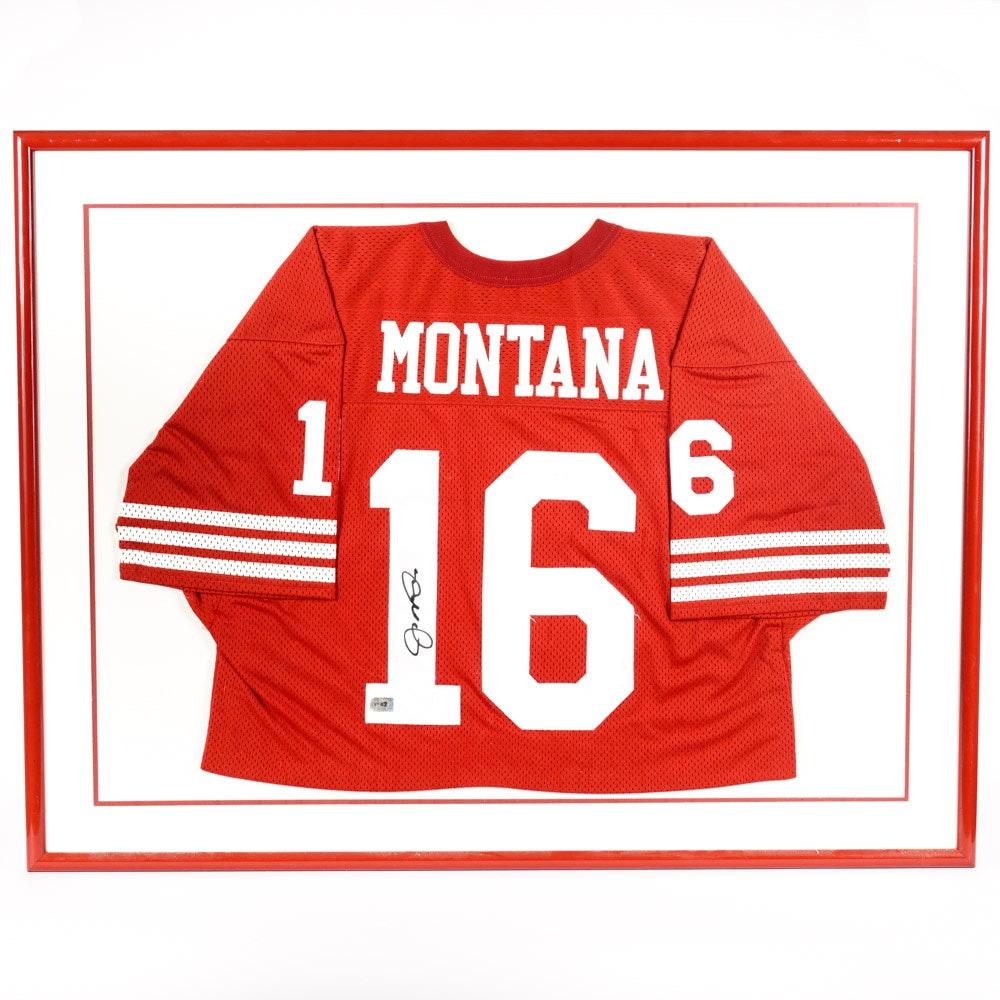 Joe Montana 49ers Autographed and Framed Sports Jersey