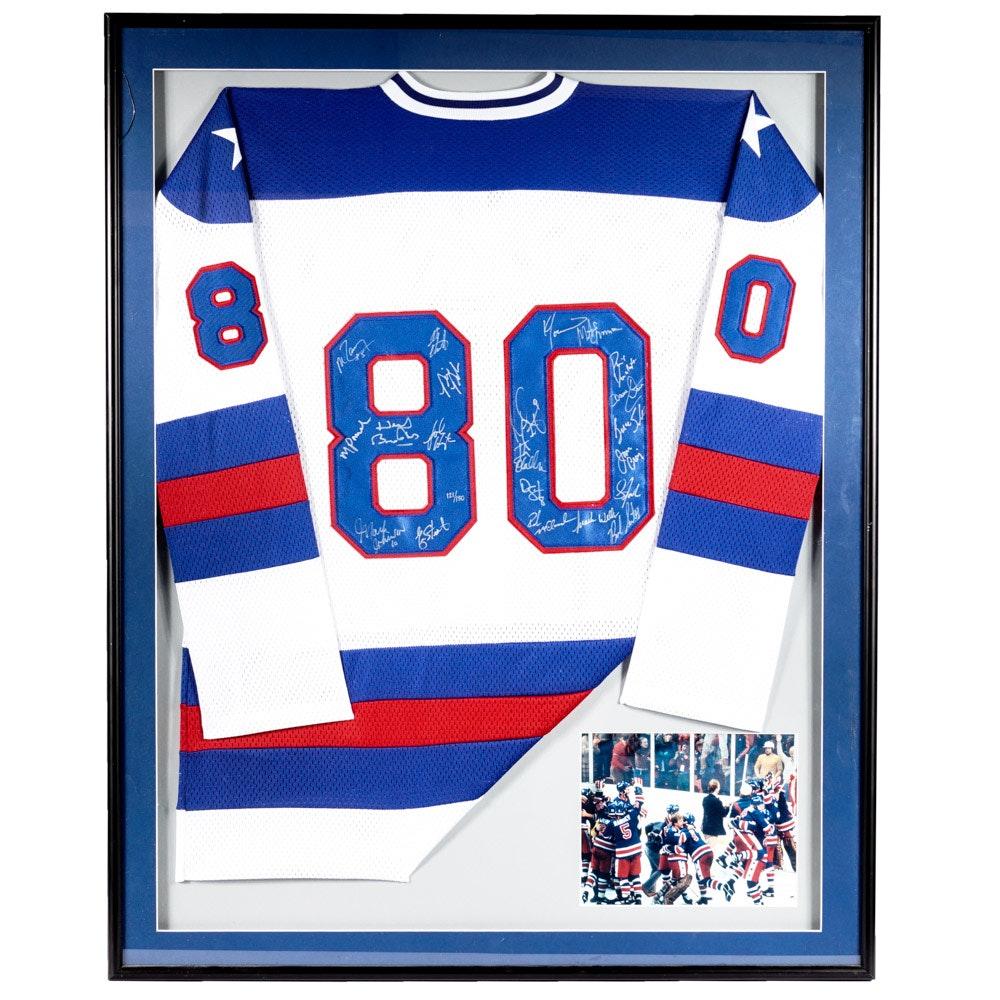 1980 Olympics USA Autographed Hockey Jersey