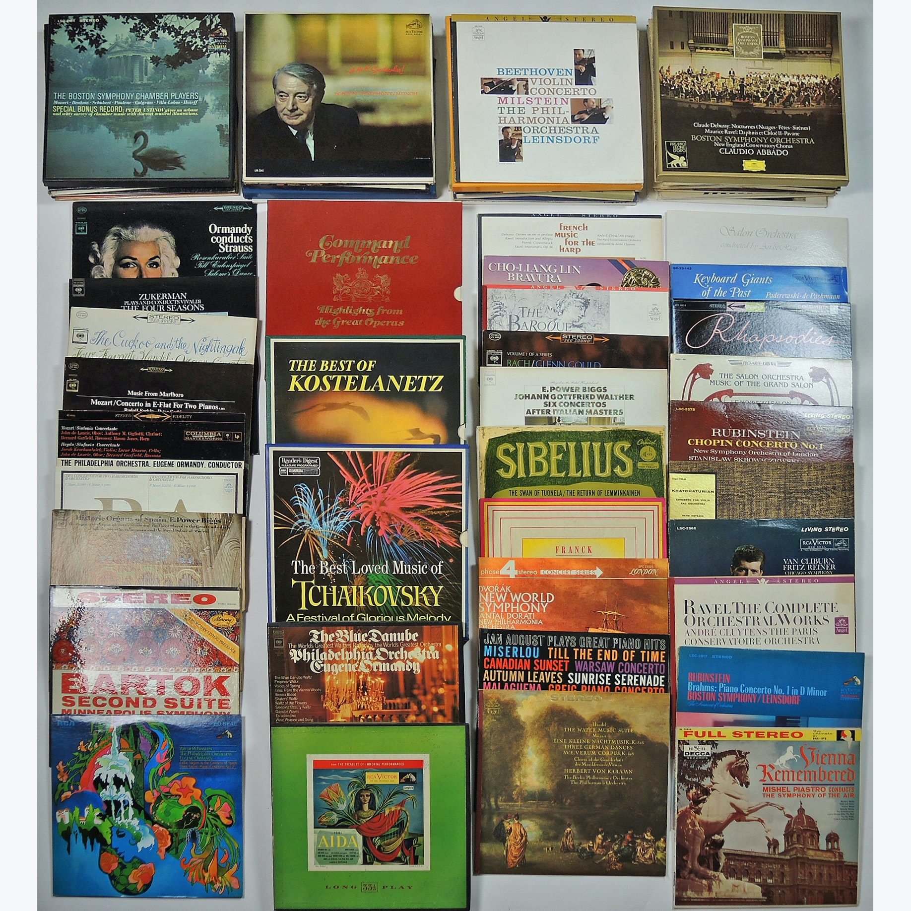 Vintage Classical Music Record Collection
