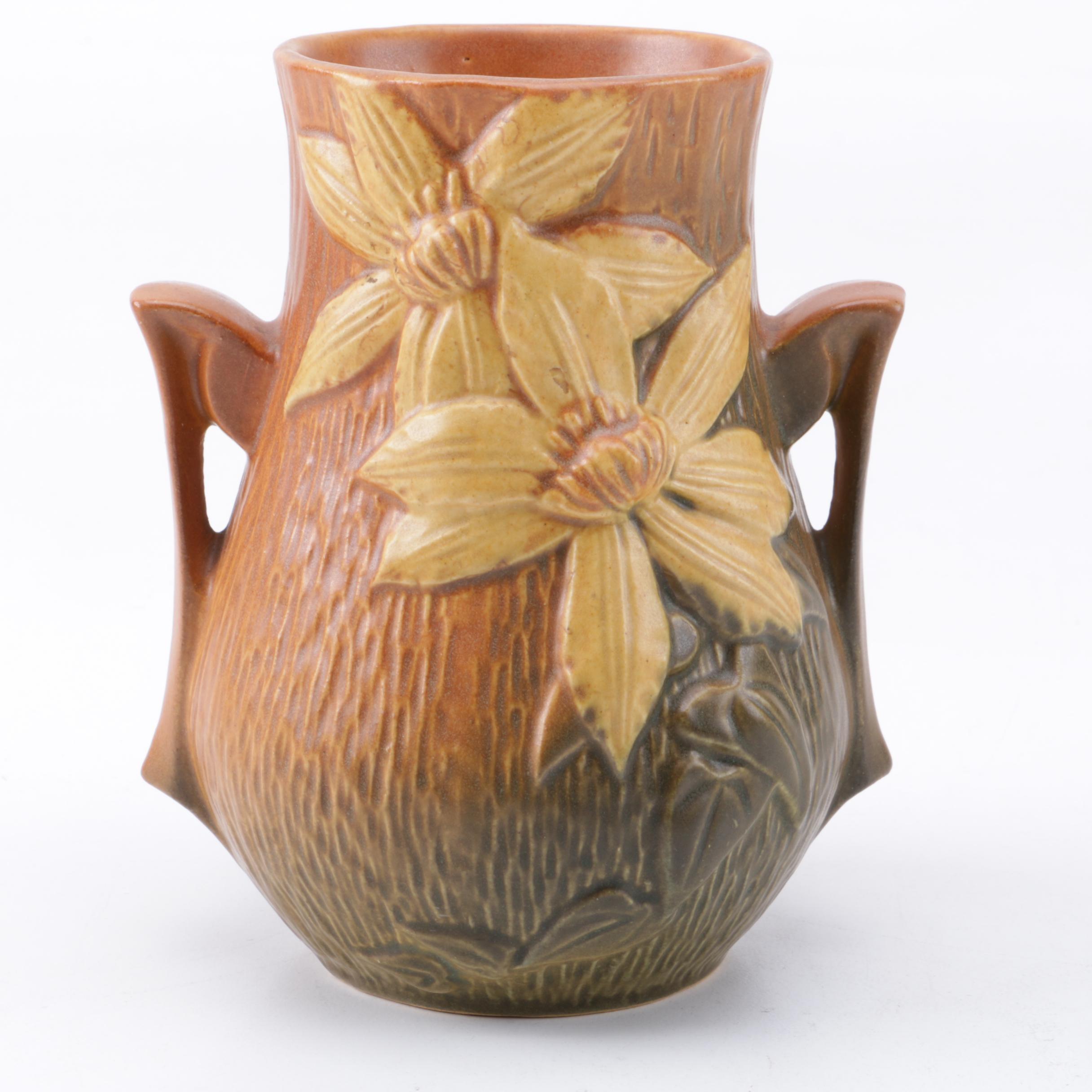 "Roseville Pottery ""Clematis"" Vase"