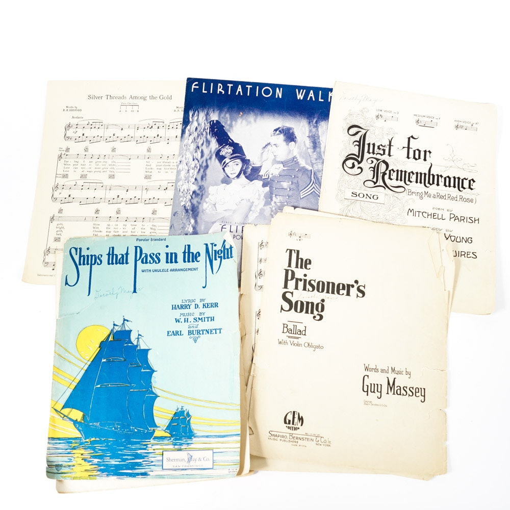 """""""Flirtation Walk,"""" Other 1930s Songbooks and Sheet Music"""
