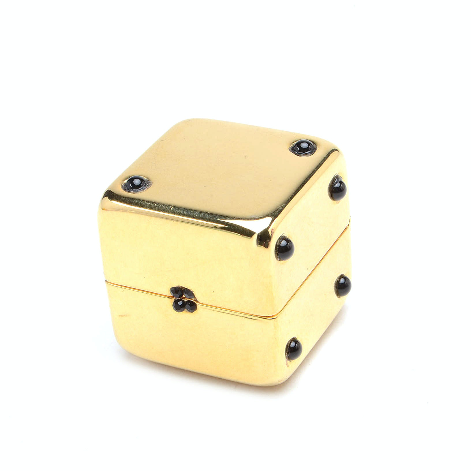Judith Leiber Gold Filled Dice Trinket Box