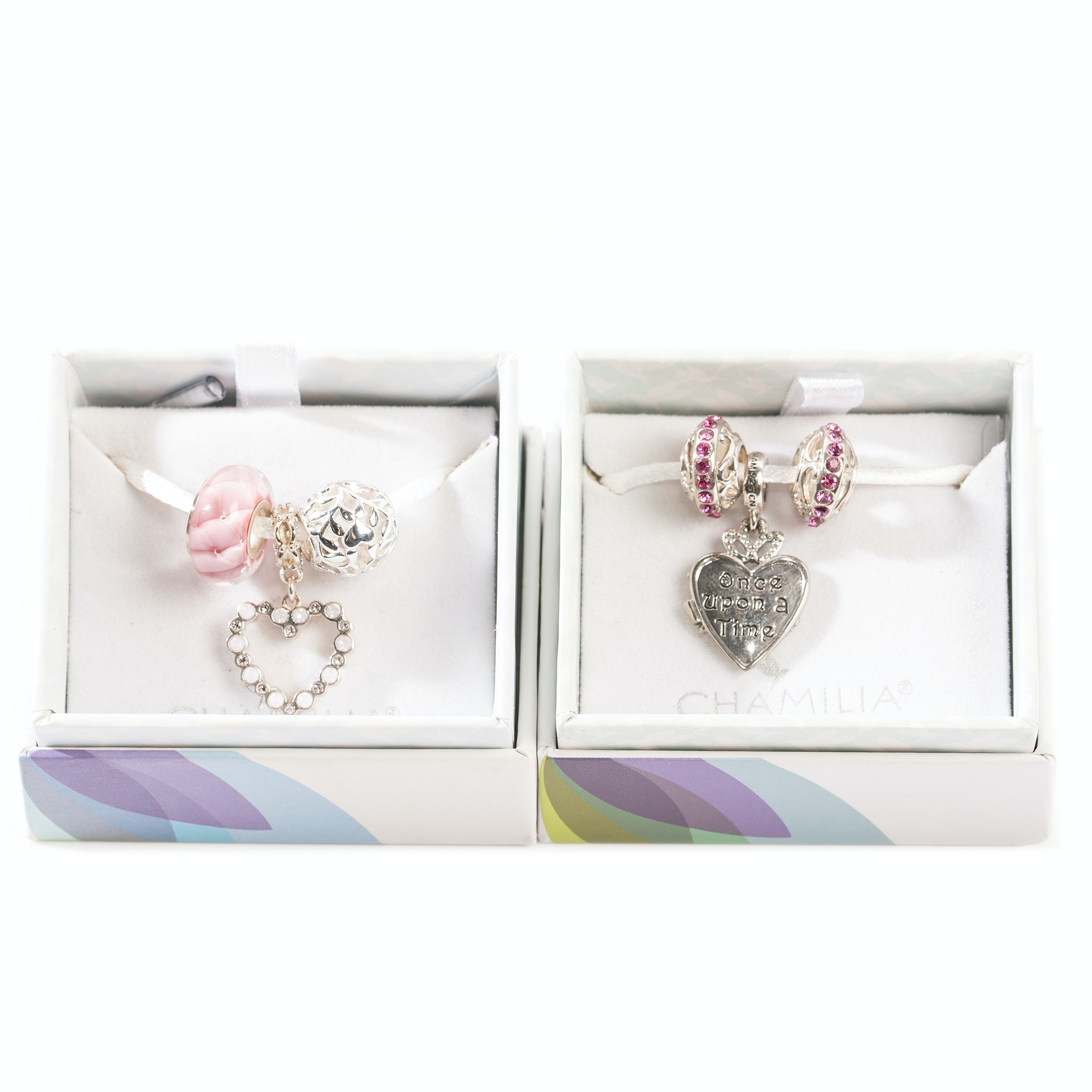 Sterling Silver Chamilia Heart Charms