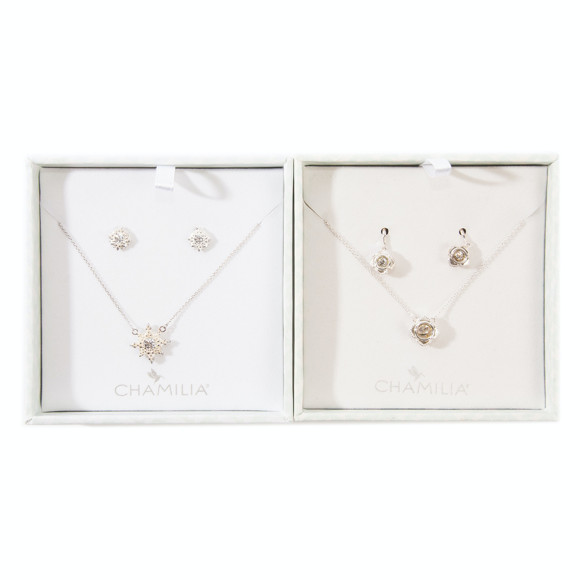 Sterling Silver Chamilia Earrings & Necklace Gift Sets