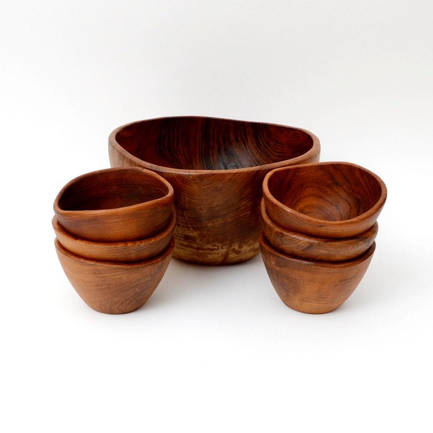 teak wood salad bowl set - Wooden Salad Bowl Set
