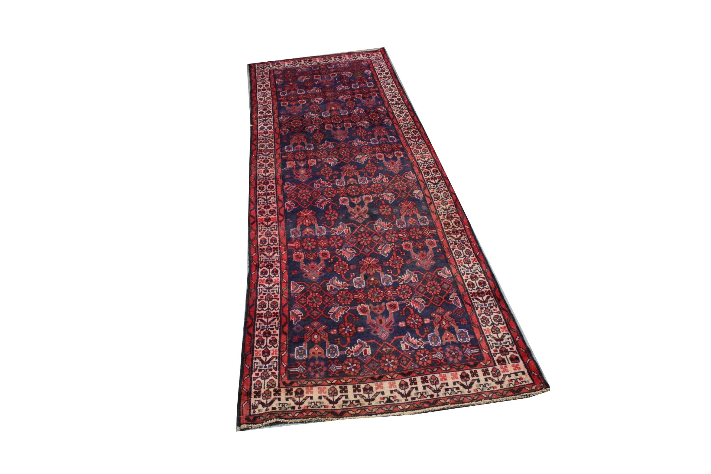 Hand-Knotted Persian Lilihan Wool Carpet Runner