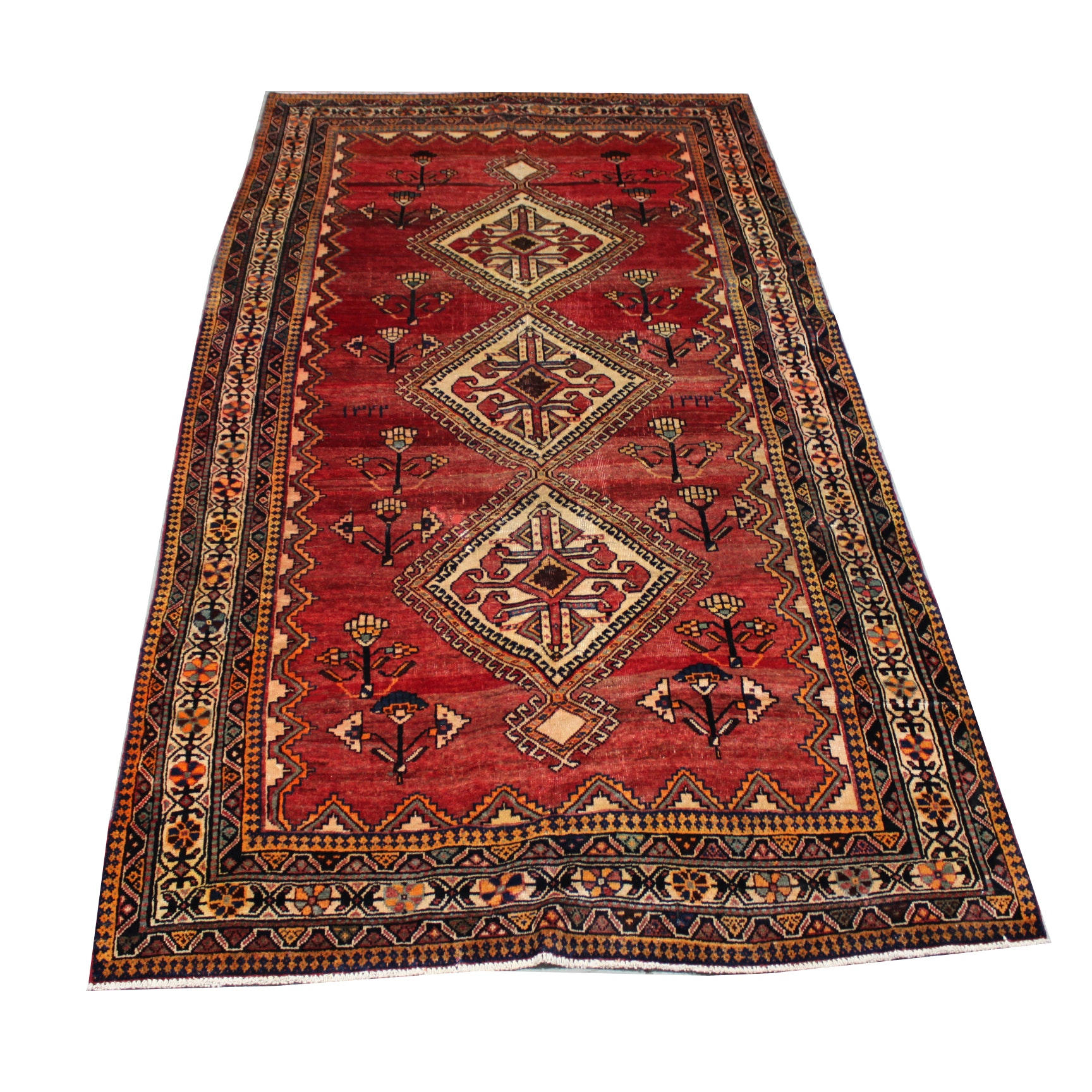 Vintage Hand-knotted Persian Viss Area Rug
