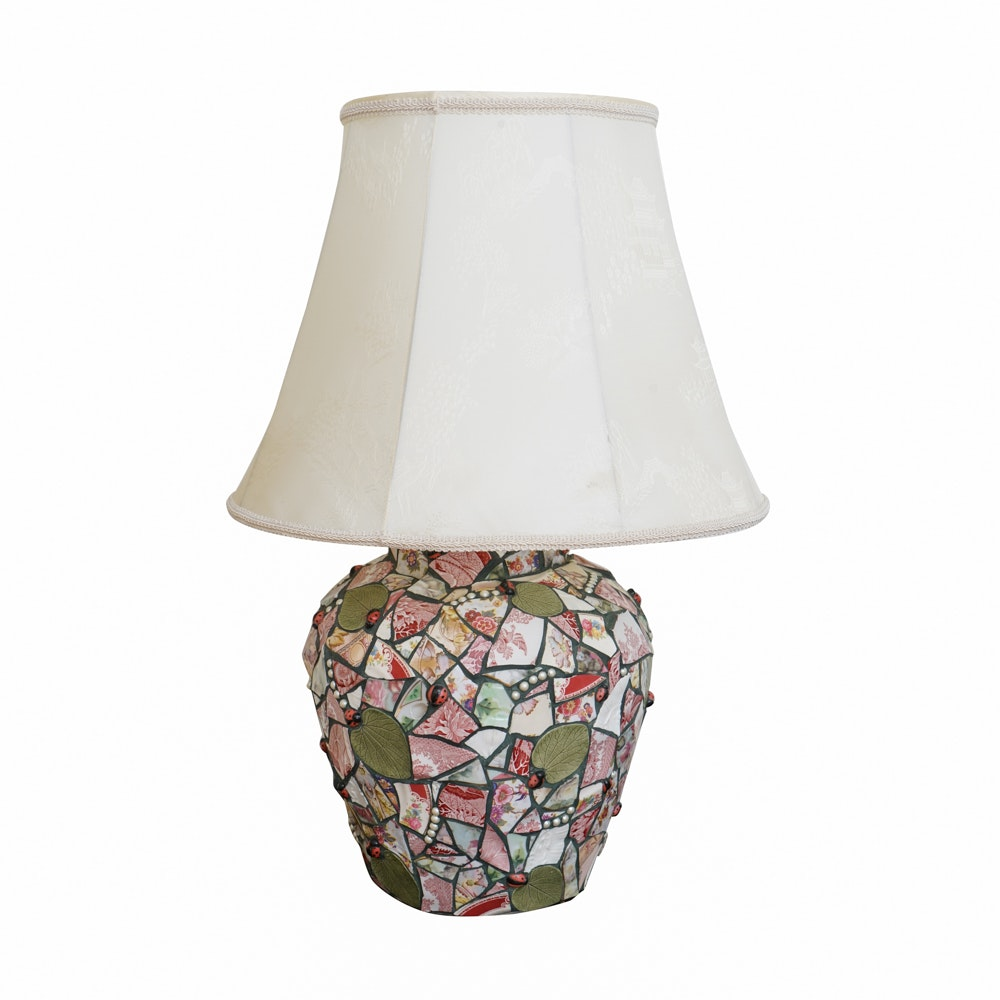 Ceramic Mosaic Style Table Lamp