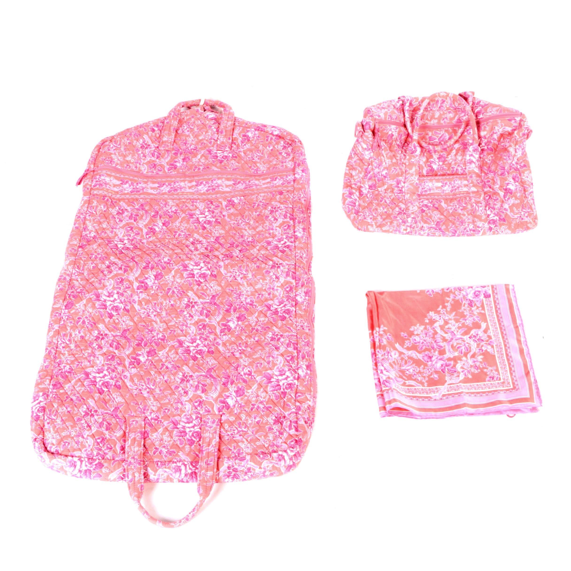 Vera Bradley Garment Bag, Duffle and Scarf