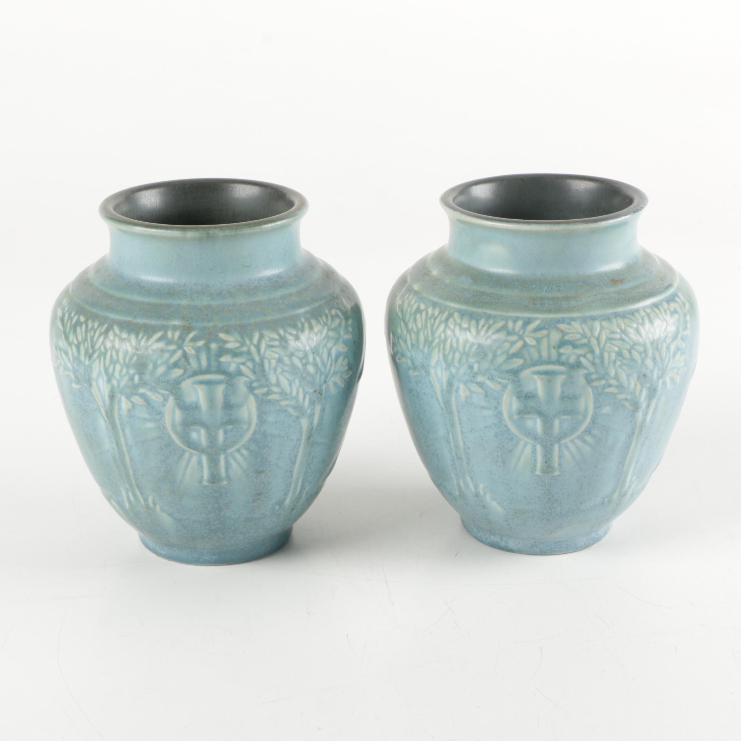 1934 Rookwood Pottery Commemorative Vases