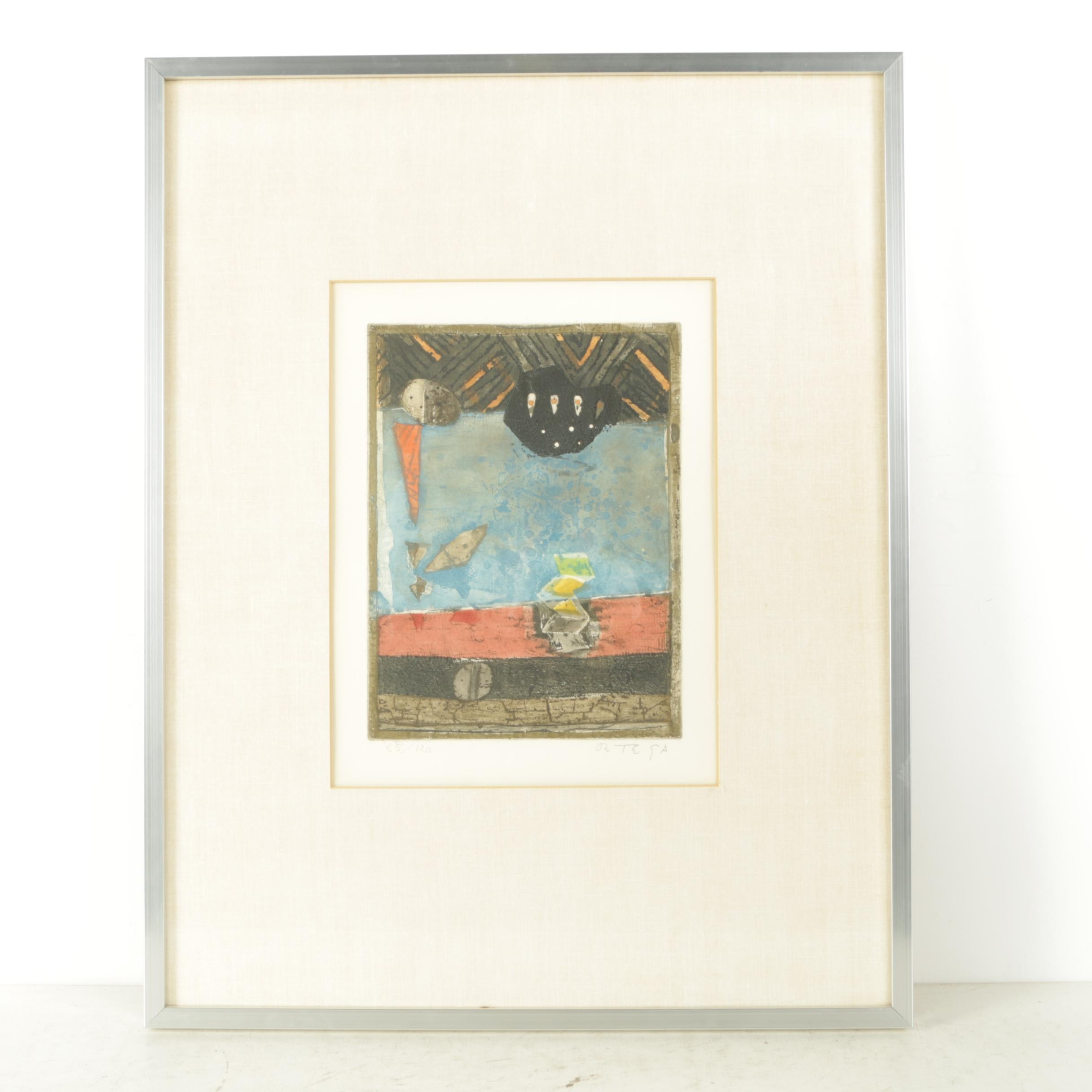 Ortega Limited Edition Etching on Paper