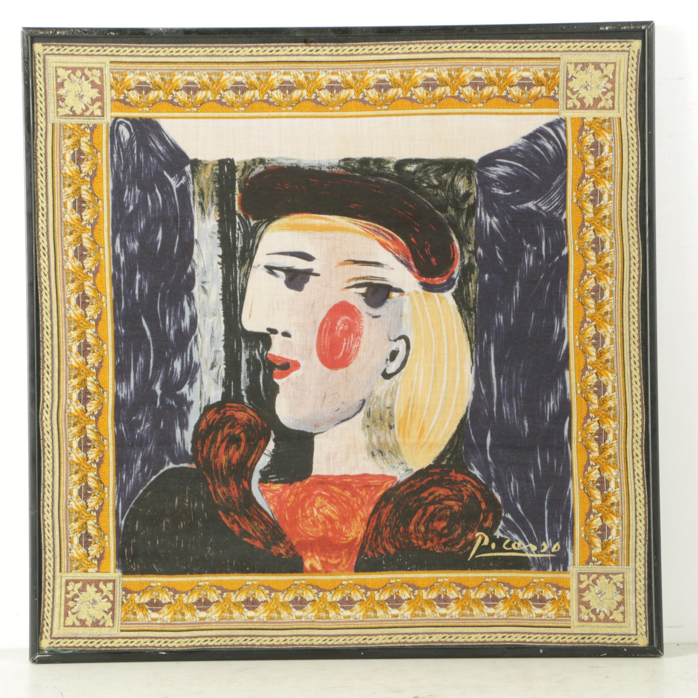 Silk Scarf Featuring Picasso's Work