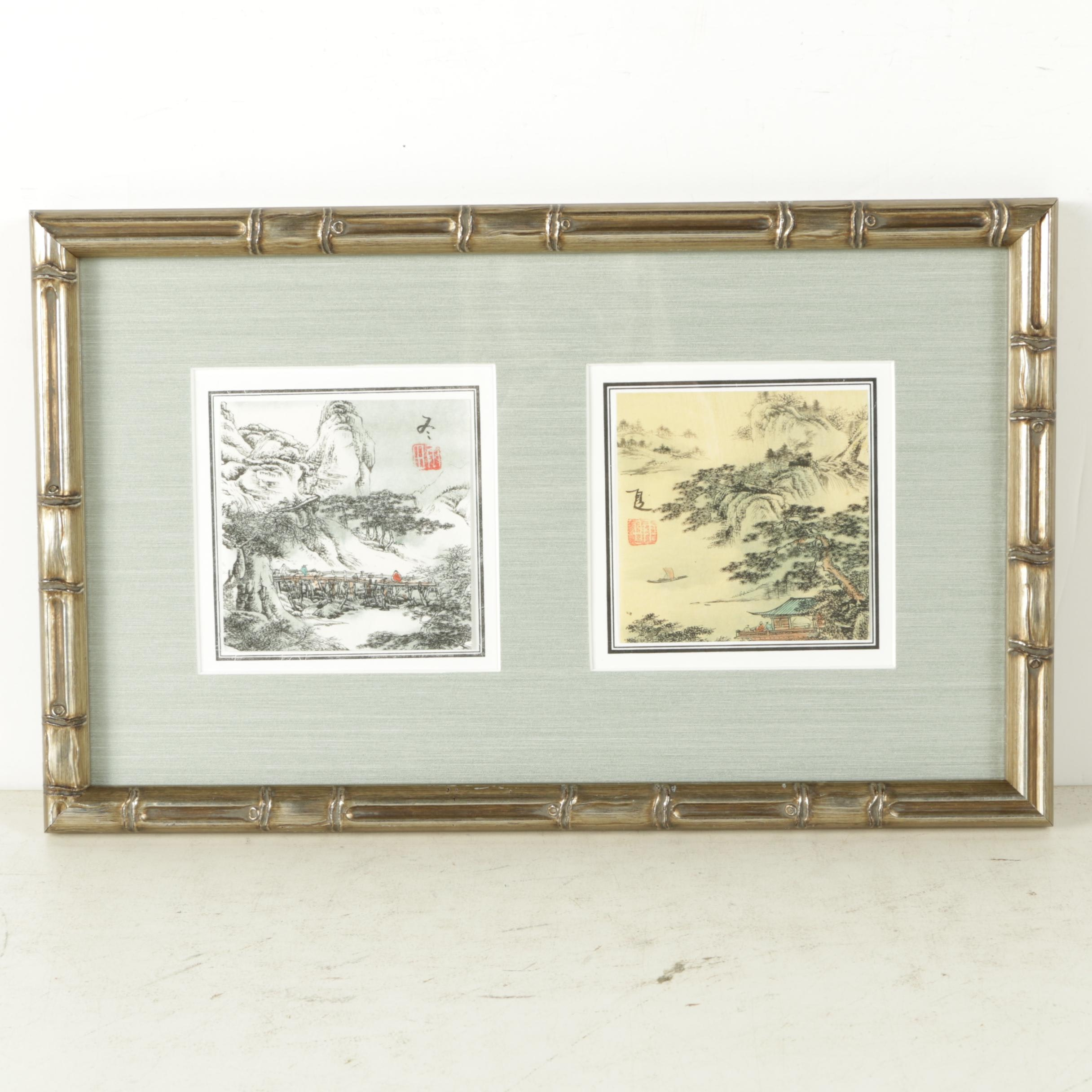 Hand-Colored Rotogravure Prints of East Asian Scenes