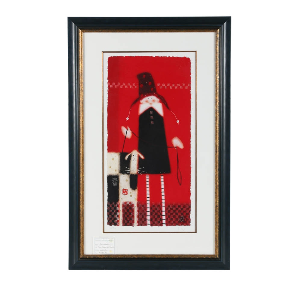"""Govinder Nazran Limited Edition Giclée on Paper """"A New Lead for Patch"""""""